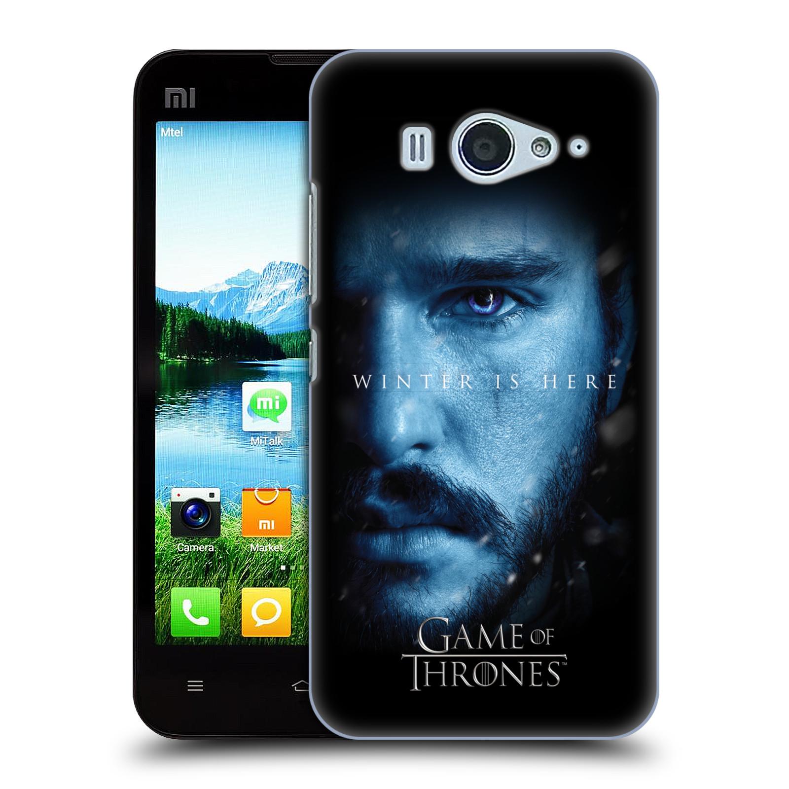 Plastové pouzdro na mobil Xiaomi Mi2S - Head Case - Hra o trůny - Jon Snow - Winter is here (Plastový kryt či obal na mobilní telefon s motivem Game of Thrones - Jon Snow - Winter is here - Season 7 pro Xiaomi Mi2S)