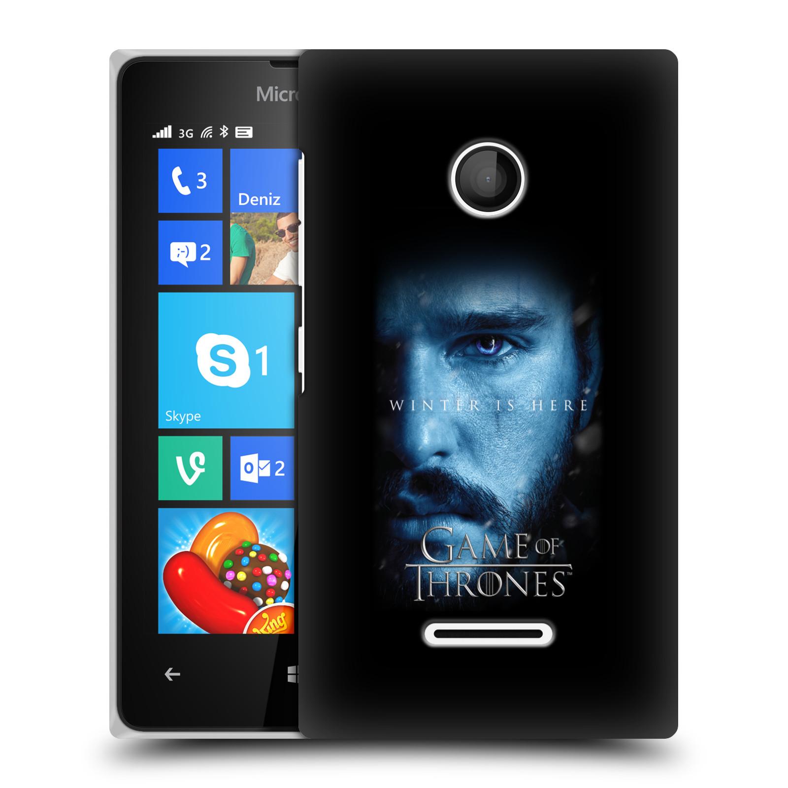 Plastové pouzdro na mobil Microsoft Lumia 435 - Head Case - Hra o trůny - Jon Snow - Winter is here (Plastový kryt či obal na mobilní telefon s motivem Game of Thrones - Jon Snow - Winter is here - Season 7 pro Microsoft Lumia 435)