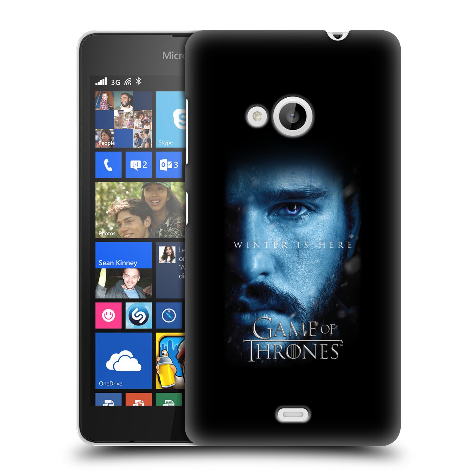 Plastové pouzdro na mobil Microsoft Lumia 535 - Head Case - Hra o trůny - Jon Snow - Winter is here (Plastový kryt či obal na mobilní telefon s motivem Game of Thrones - Jon Snow - Winter is here - Season 7 pro Microsoft Lumia 535)