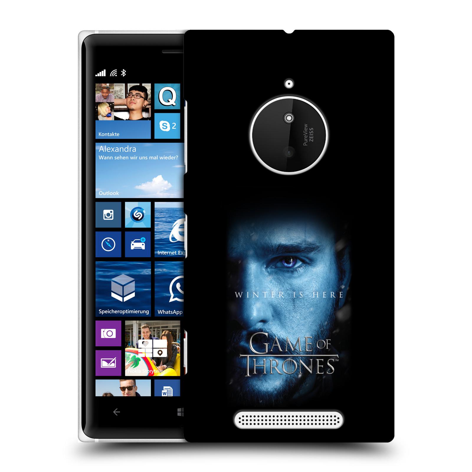 Plastové pouzdro na mobil Nokia Lumia 830 - Head Case - Hra o trůny - Jon Snow - Winter is here (Plastový kryt či obal na mobilní telefon s motivem Game of Thrones - Jon Snow - Winter is here - Season 7 pro Nokia Lumia 830)
