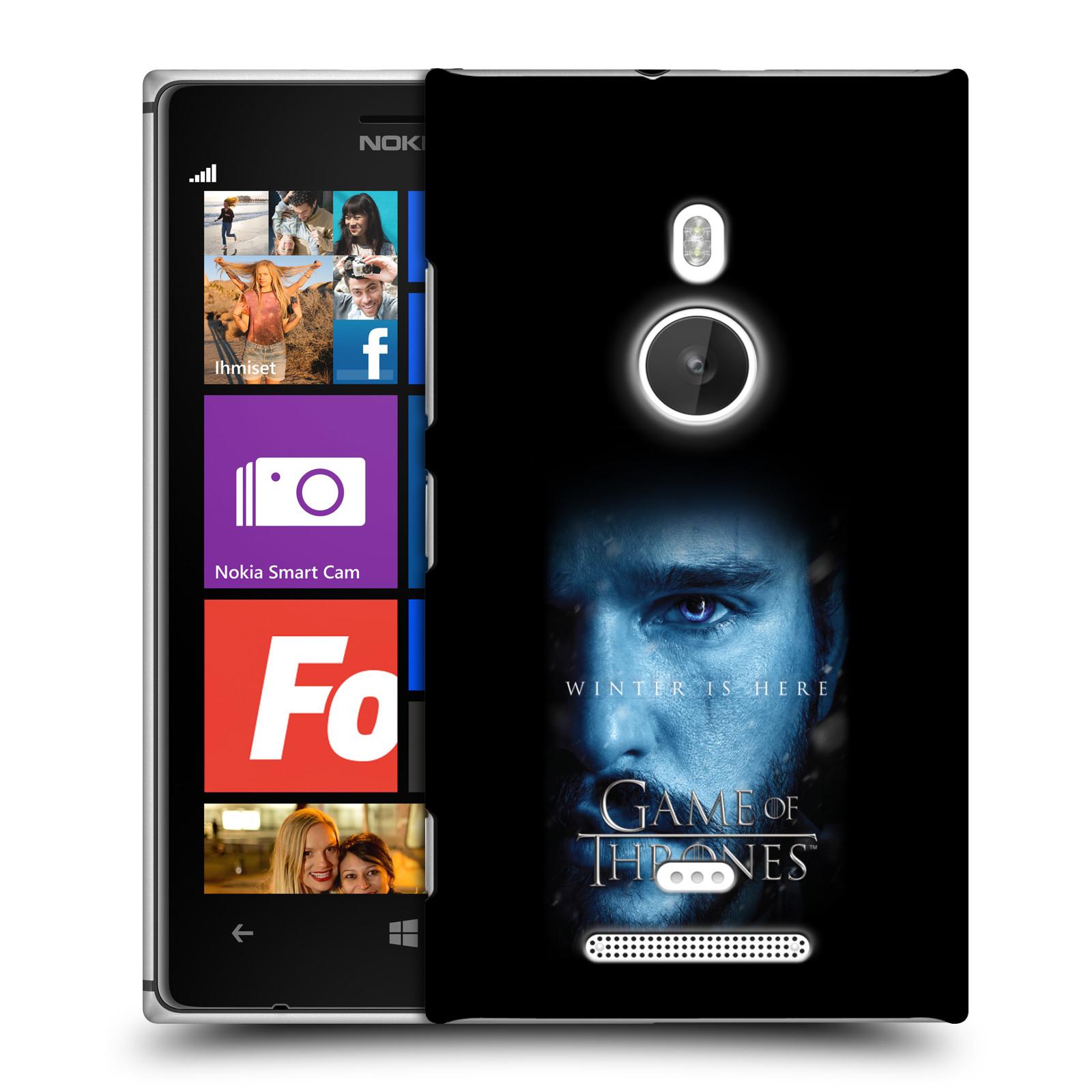Plastové pouzdro na mobil Nokia Lumia 925 - Head Case - Hra o trůny - Jon Snow - Winter is here (Plastový kryt či obal na mobilní telefon s motivem Game of Thrones - Jon Snow - Winter is here - Season 7 pro Nokia Lumia 925)
