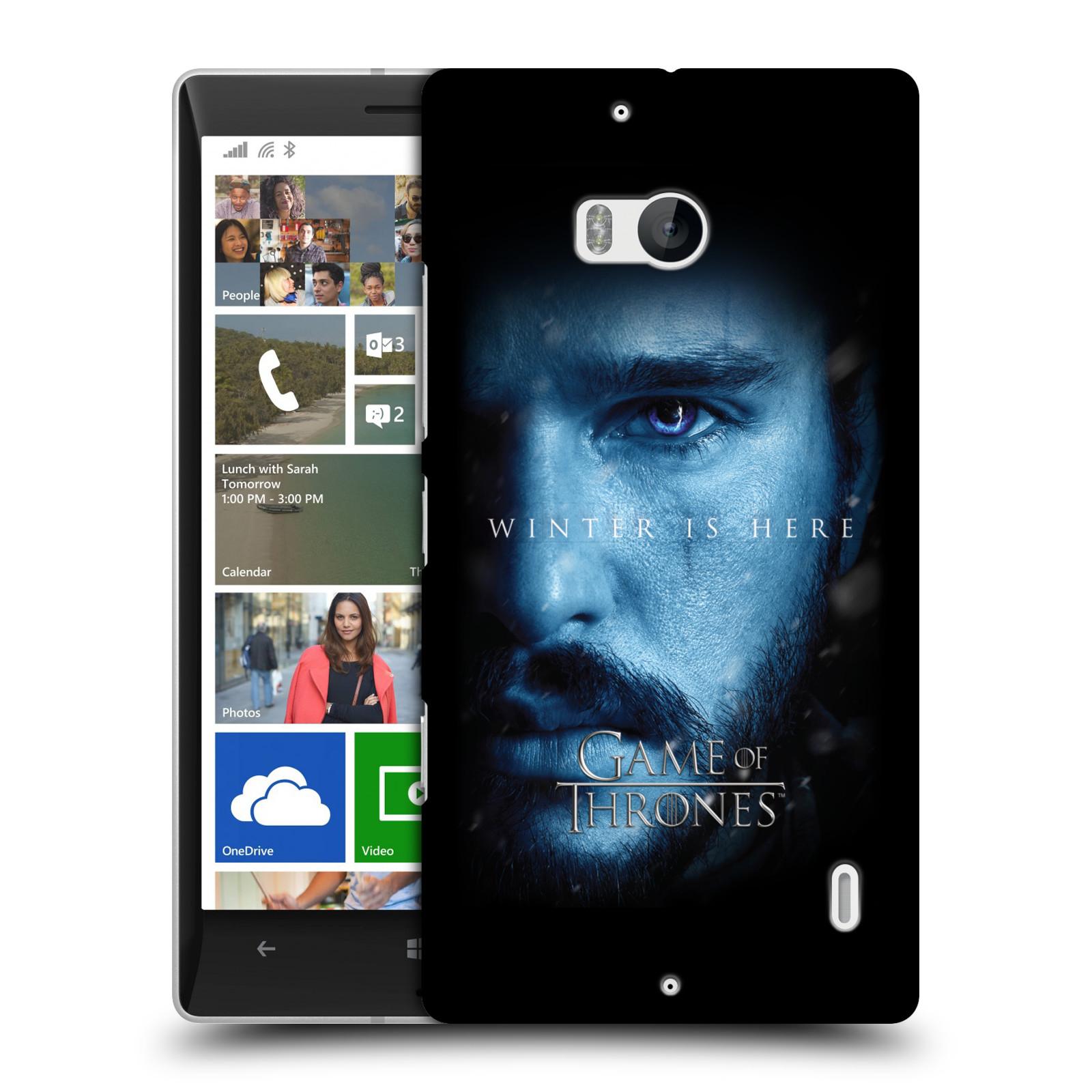 Plastové pouzdro na mobil Nokia Lumia 930 - Head Case - Hra o trůny - Jon Snow - Winter is here (Plastový kryt či obal na mobilní telefon s motivem Game of Thrones - Jon Snow - Winter is here - Season 7 pro Nokia Lumia 930)