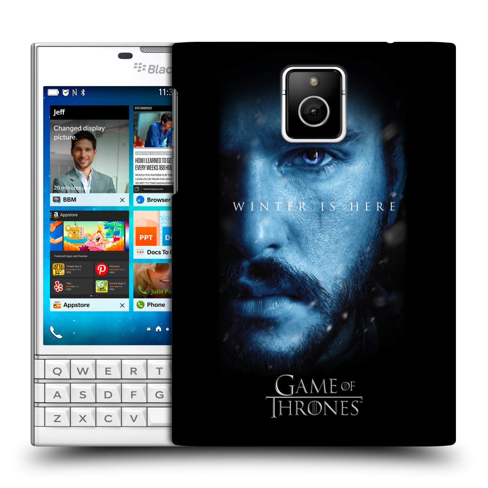 Plastové pouzdro na mobil Blackberry PASSPORT - Head Case - Hra o trůny - Jon Snow - Winter is here (Plastový kryt či obal na mobilní telefon s motivem Game of Thrones - Jon Snow - Winter is here - Season 7 pro Blackberry PASSPORT)