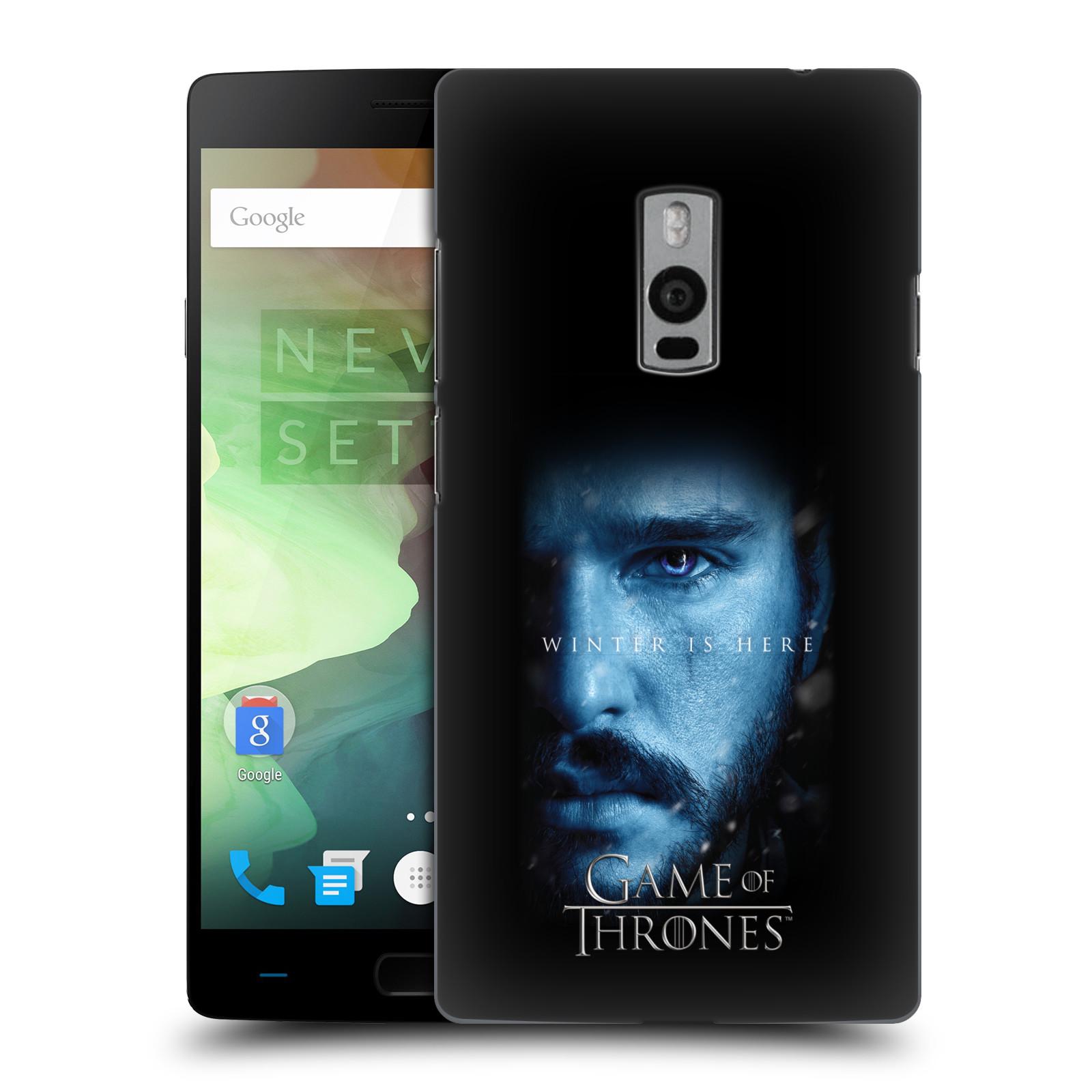 Plastové pouzdro na mobil OnePlus Two - Head Case - Hra o trůny - Jon Snow - Winter is here (Plastový kryt či obal na mobilní telefon s motivem Game of Thrones - Jon Snow - Winter is here - Season 7 pro OnePlus Two)