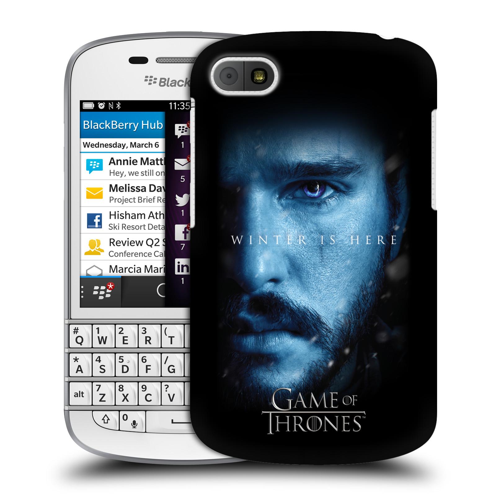 Plastové pouzdro na mobil Blackberry Q10 - Head Case - Hra o trůny - Jon Snow - Winter is here (Plastový kryt či obal na mobilní telefon s motivem Game of Thrones - Jon Snow - Winter is here - Season 7 pro Blackberry Q10)