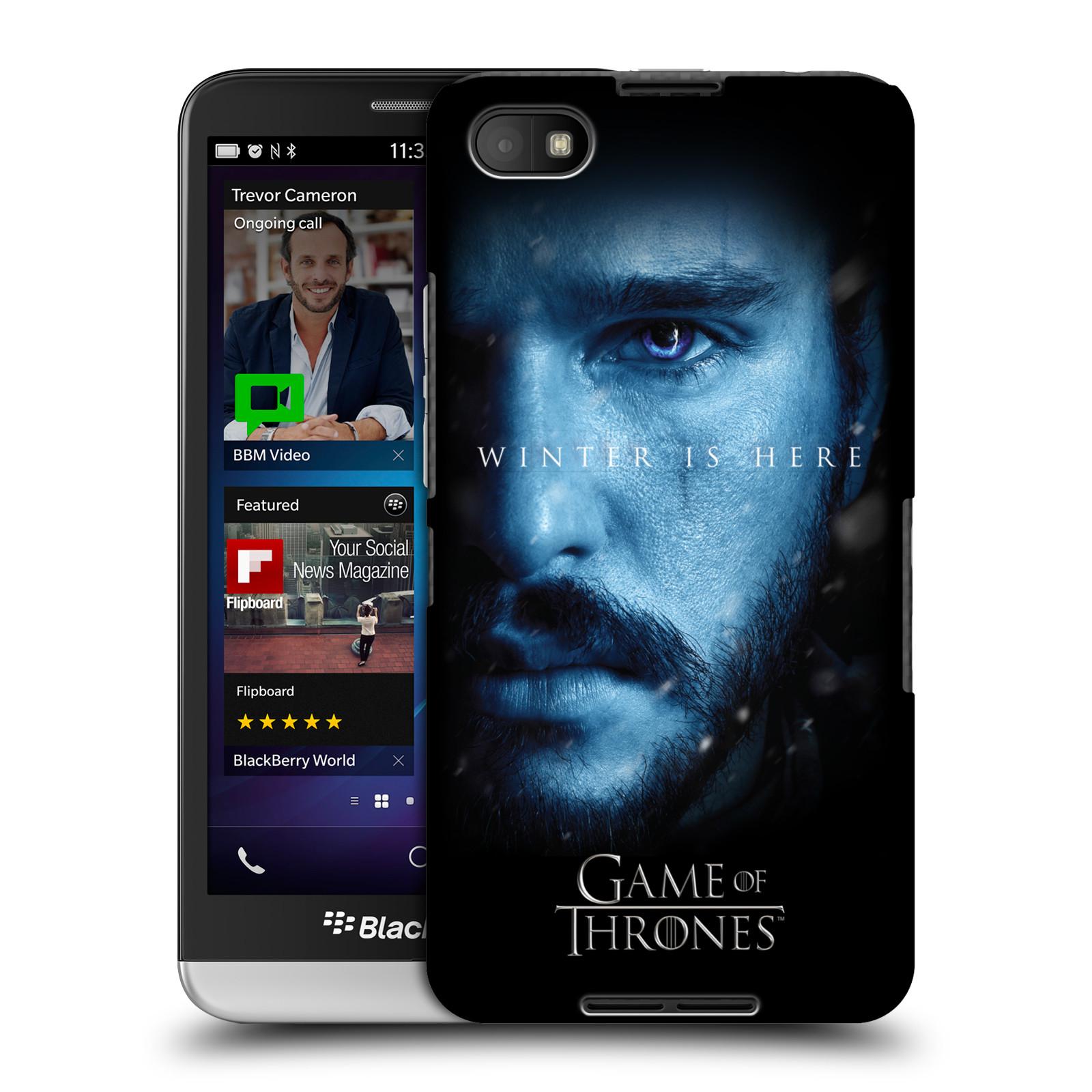 Plastové pouzdro na mobil Blackberry Z30 - Head Case - Hra o trůny - Jon Snow - Winter is here (Plastový kryt či obal na mobilní telefon s motivem Game of Thrones - Jon Snow - Winter is here - Season 7 pro Blackberry Z30)