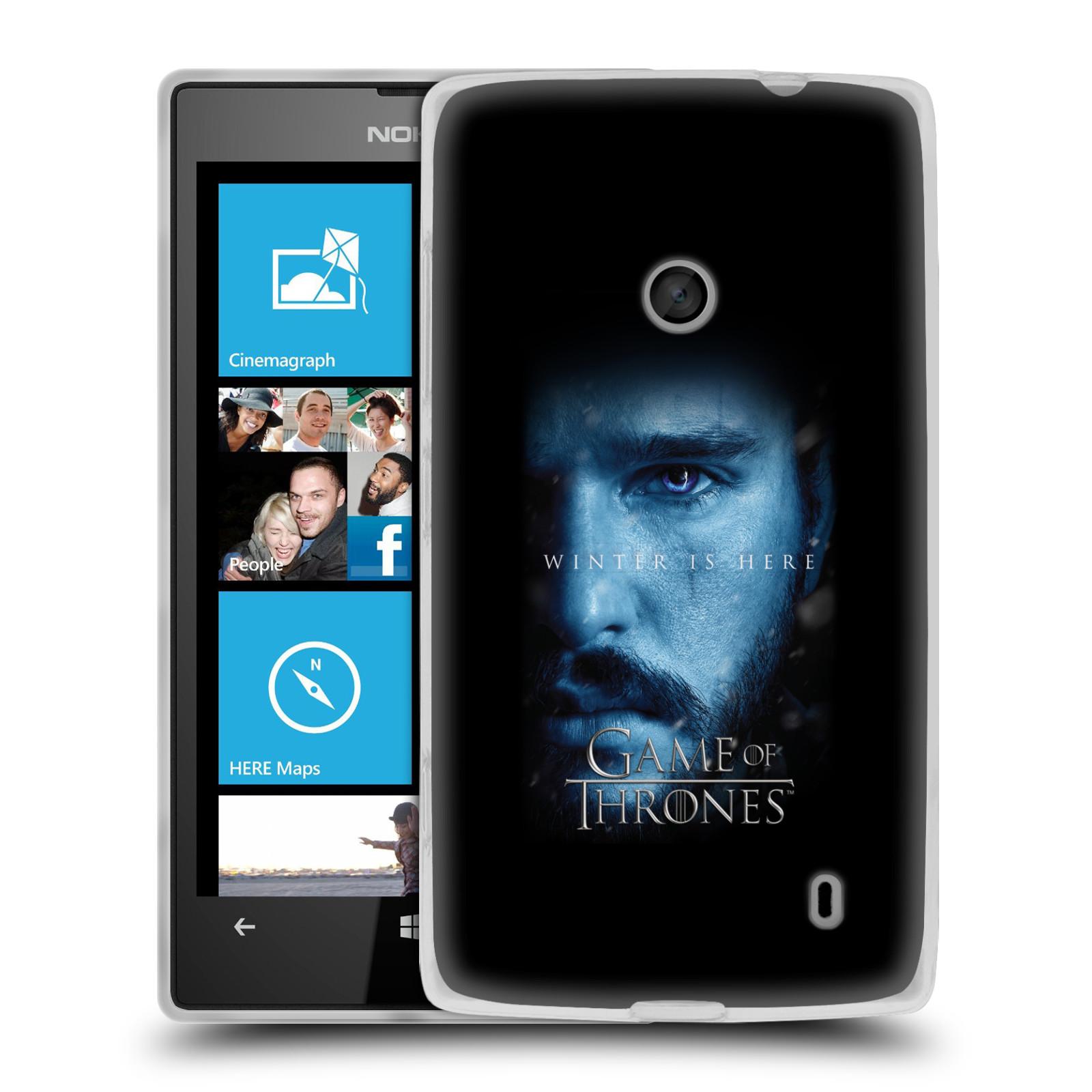 Silikonové pouzdro na mobil Nokia Lumia 520 - Head Case - Hra o trůny - Jon Snow - Winter is here (Silikonový kryt či obal na mobilní telefon s motivem Game of Thrones - Jon Snow - Winter is here - Season 7 pro Nokia Lumia 520)