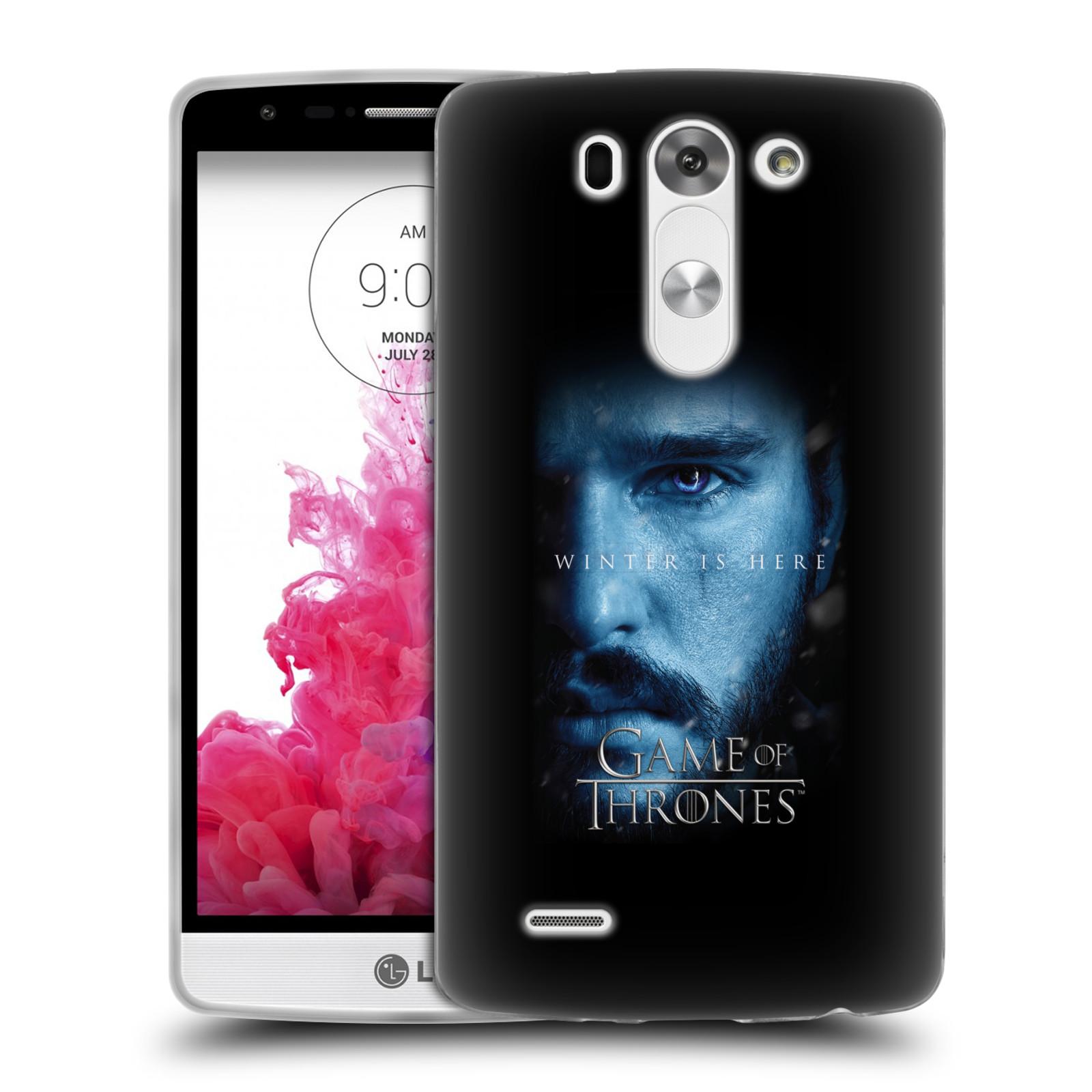Silikonové pouzdro na mobil LG G3s - Head Case - Hra o trůny - Jon Snow - Winter is here (Silikonový kryt či obal na mobilní telefon s motivem Game of Thrones - Jon Snow - Winter is here - Season 7 pro LG G3s)