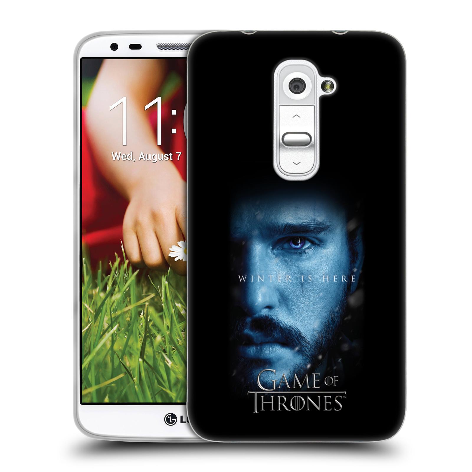 Silikonové pouzdro na mobil HTC LG G2 - Head Case - Hra o trůny - Jon Snow - Winter is here (Silikonový kryt či obal na mobilní telefon s motivem Game of Thrones - Jon Snow - Winter is here - Season 7 pro HTC LG G2)