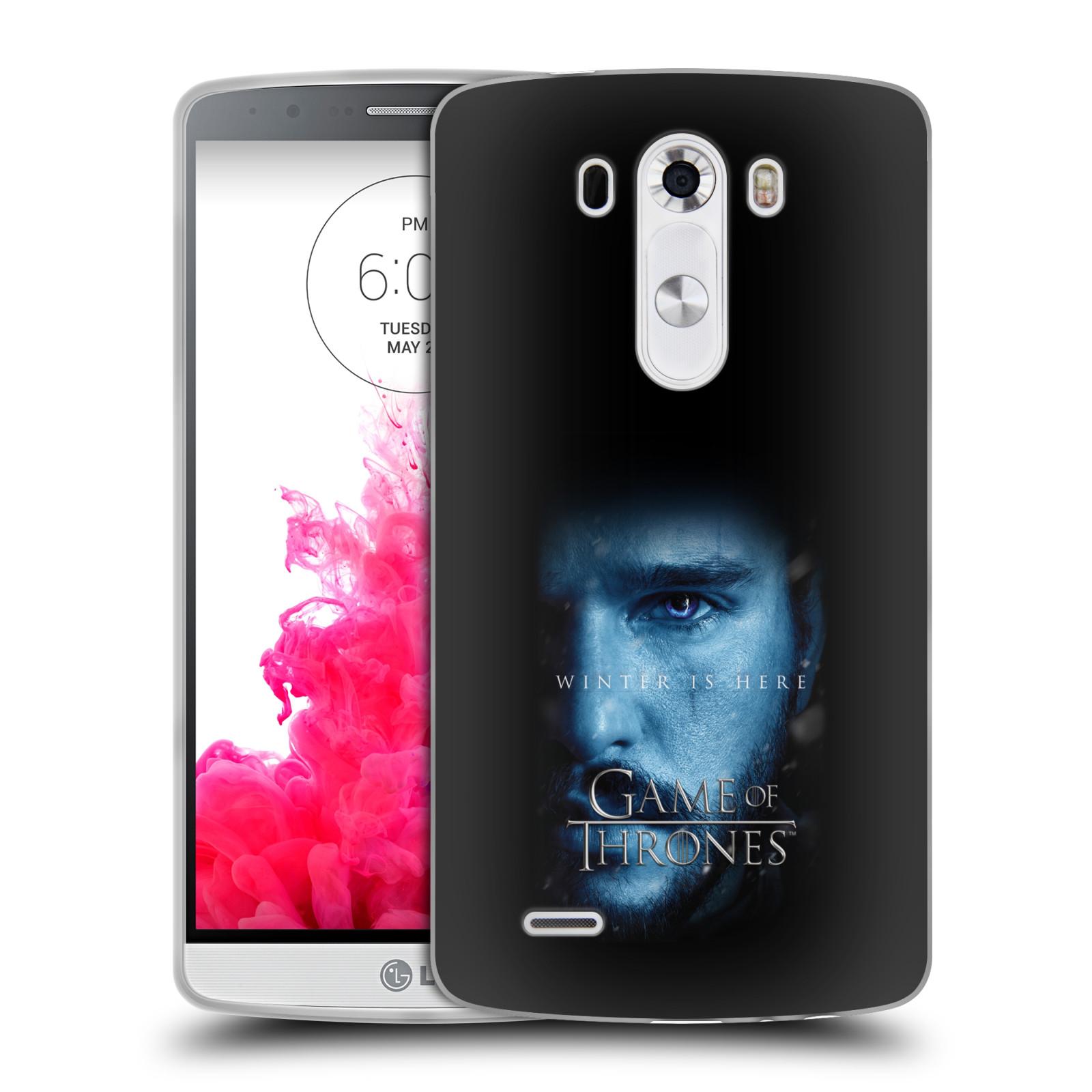 Silikonové pouzdro na mobil LG G3 - Head Case - Hra o trůny - Jon Snow - Winter is here (Silikonový kryt či obal na mobilní telefon s motivem Game of Thrones - Jon Snow - Winter is here - Season 7 pro LG G3)