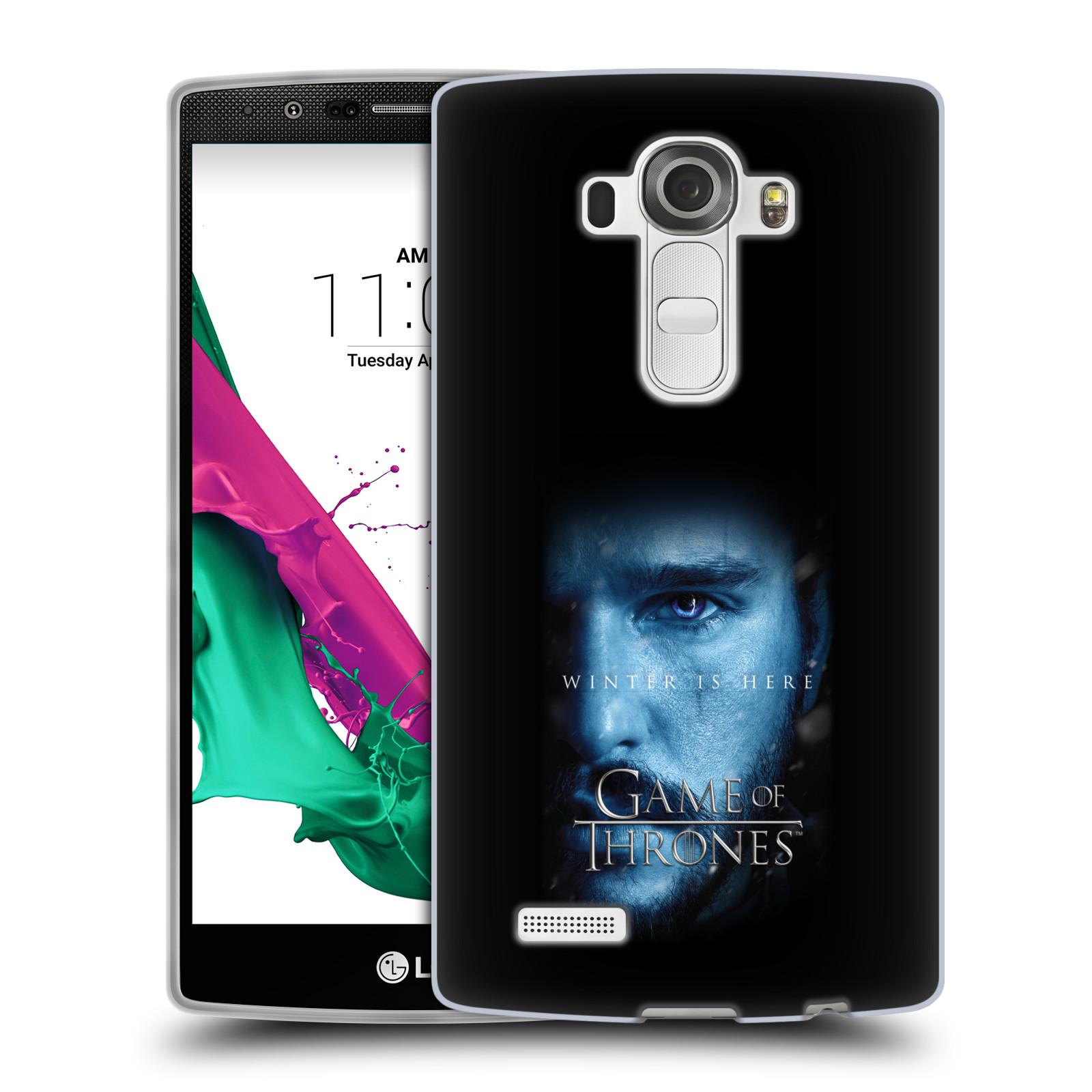 Silikonové pouzdro na mobil LG G4 - Head Case - Hra o trůny - Jon Snow - Winter is here (Silikonový kryt či obal na mobilní telefon s motivem Game of Thrones - Jon Snow - Winter is here - Season 7 pro LG G4 H815)