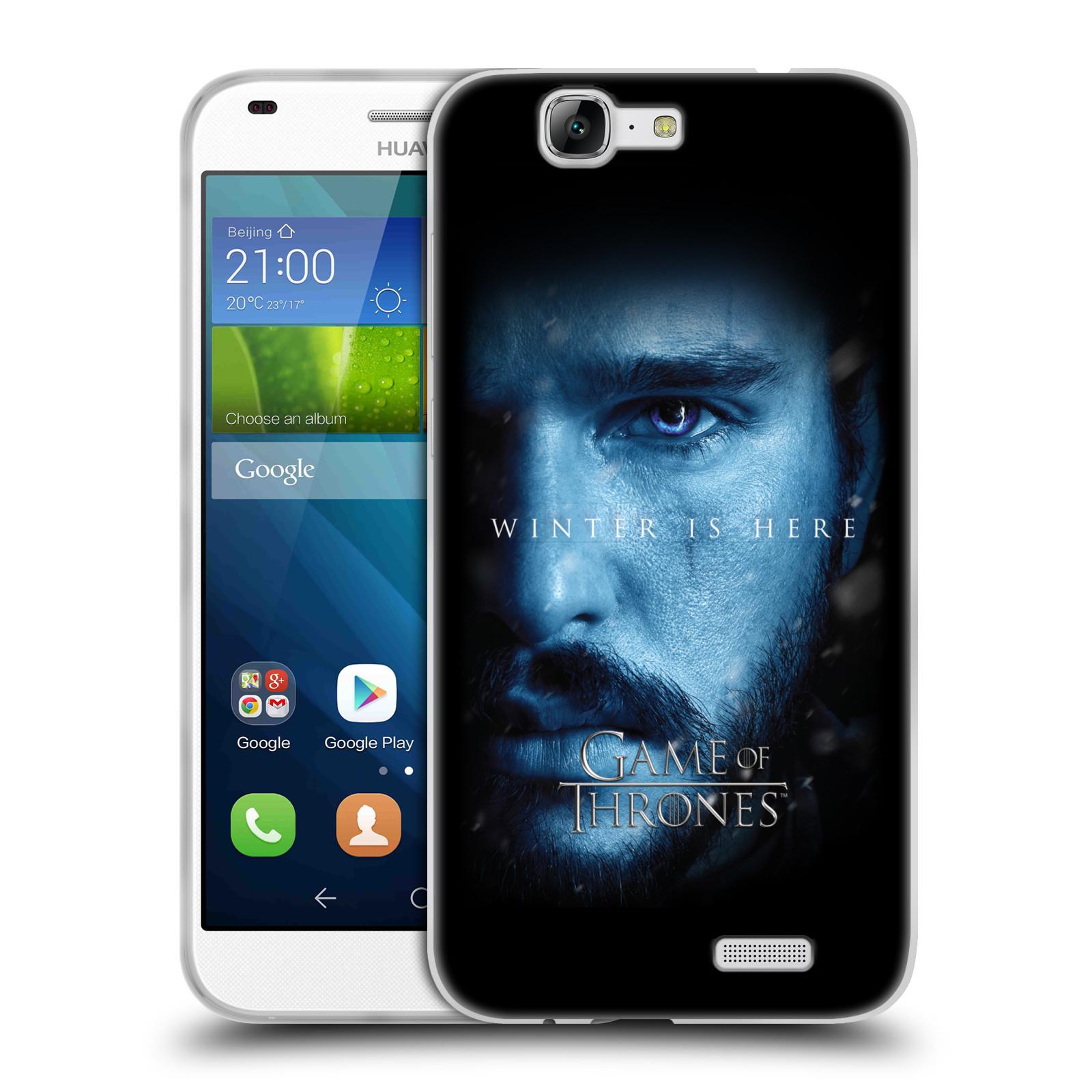 Silikonové pouzdro na mobil Huawei Ascend G7 - Head Case - Hra o trůny - Jon Snow - Winter is here (Silikonový kryt či obal na mobilní telefon s motivem Game of Thrones - Jon Snow - Winter is here - Season 7 pro Huawei Ascend G7)