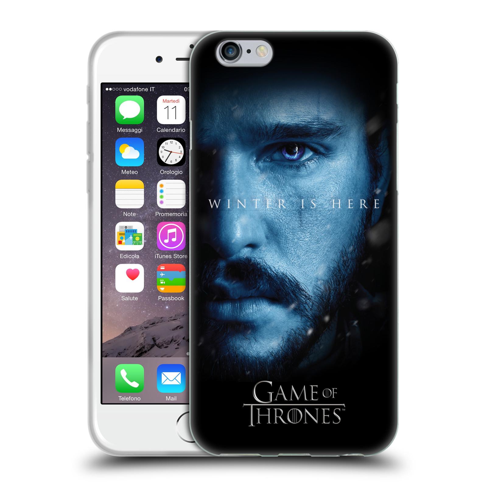 Silikonové pouzdro na mobil Apple iPhone 6 - Head Case - Hra o trůny - Jon Snow - Winter is here (Silikonový kryt či obal na mobilní telefon s motivem Game of Thrones - Jon Snow - Winter is here - Season 7 pro Apple iPhone 6)