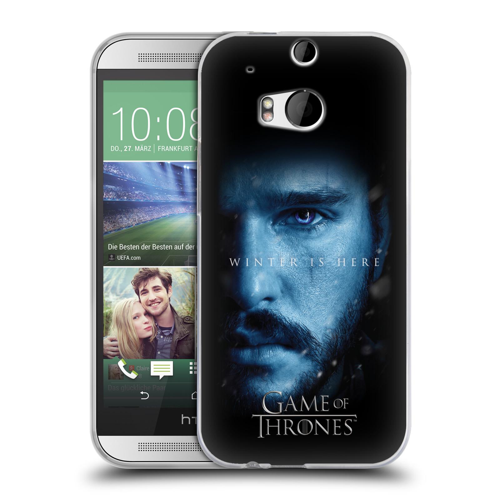 Silikonové pouzdro na mobil HTC ONE M8 - Head Case - Hra o trůny - Jon Snow - Winter is here (Silikonový kryt či obal na mobilní telefon s motivem Game of Thrones - Jon Snow - Winter is here - Season 7 pro HTC ONE M8)