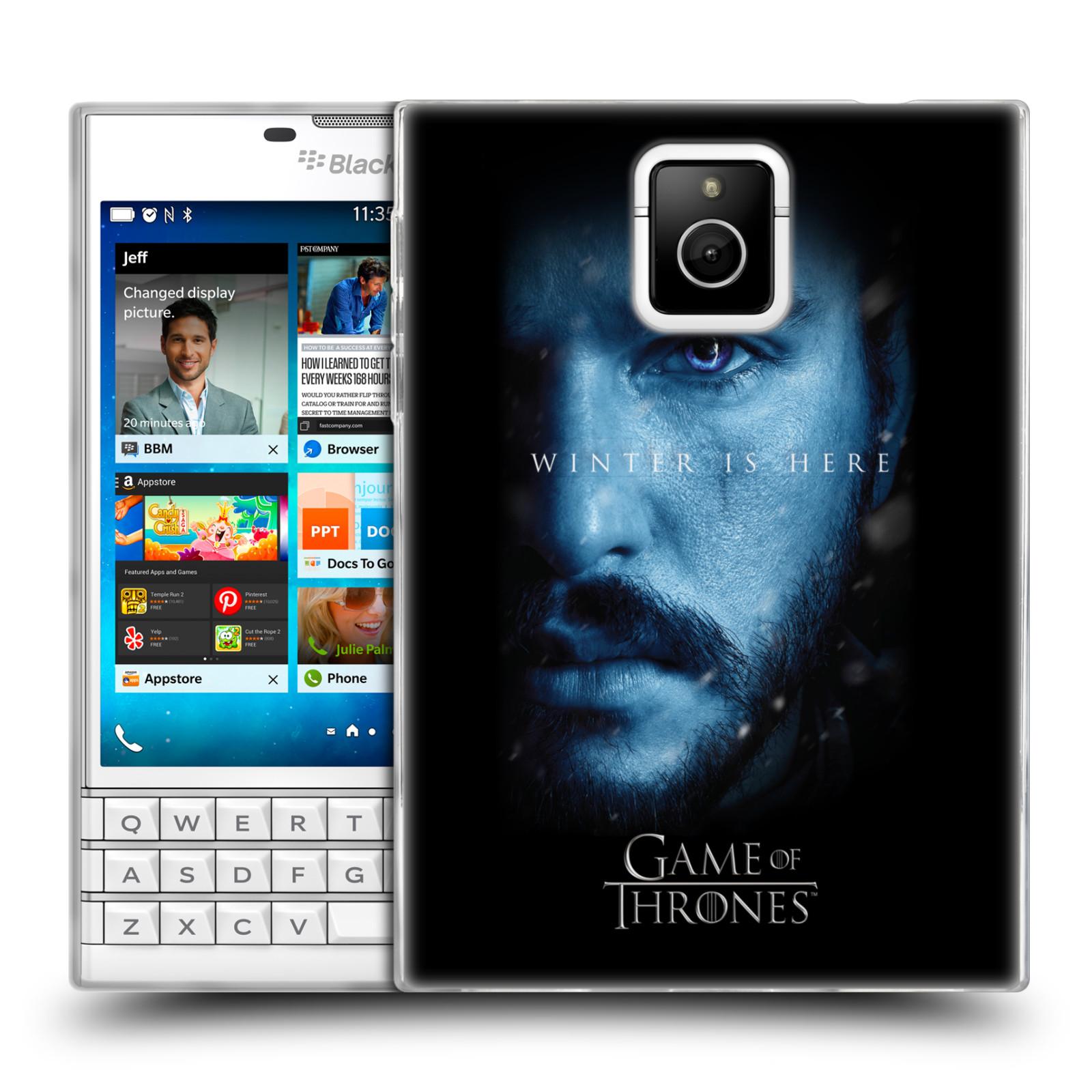 Silikonové pouzdro na mobil Blackberry PASSPORT - Head Case - Hra o trůny - Jon Snow - Winter is here (Silikonový kryt či obal na mobilní telefon s motivem Game of Thrones - Jon Snow - Winter is here - Season 7 pro Blackberry PASSPORT)