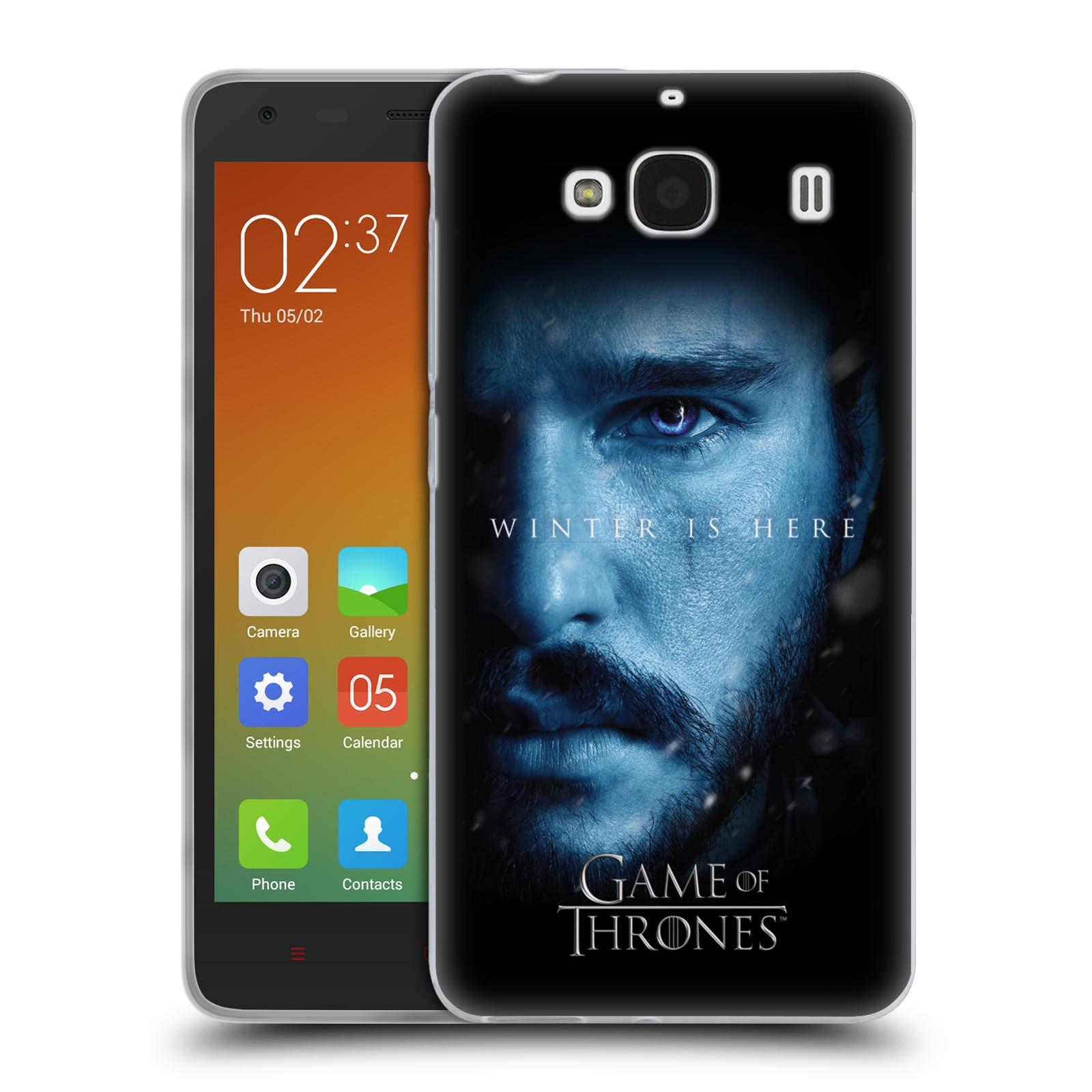 Silikonové pouzdro na mobil Xiaomi Redmi 2 - Head Case - Hra o trůny - Jon Snow - Winter is here (Silikonový kryt či obal na mobilní telefon s motivem Game of Thrones - Jon Snow - Winter is here - Season 7 pro Xiaomi Redmi 2)