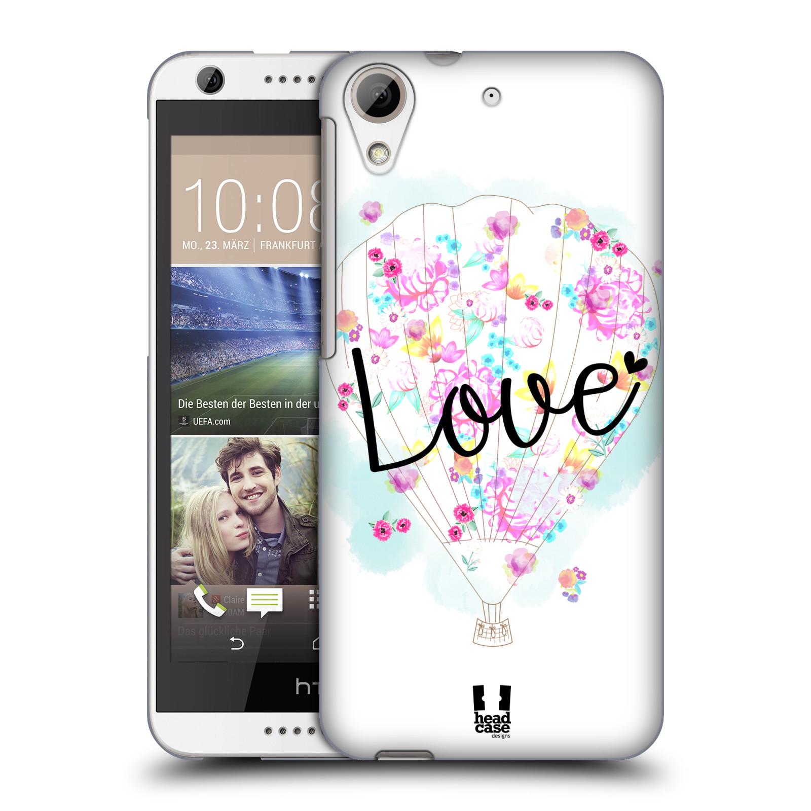 Plastové pouzdro na mobil HTC Desire 626 / 626G HEAD CASE Balón Love (Plastový kryt či obal na mobilní telefon HTC Desire 626G Dual SIM a HTC Desire 626)
