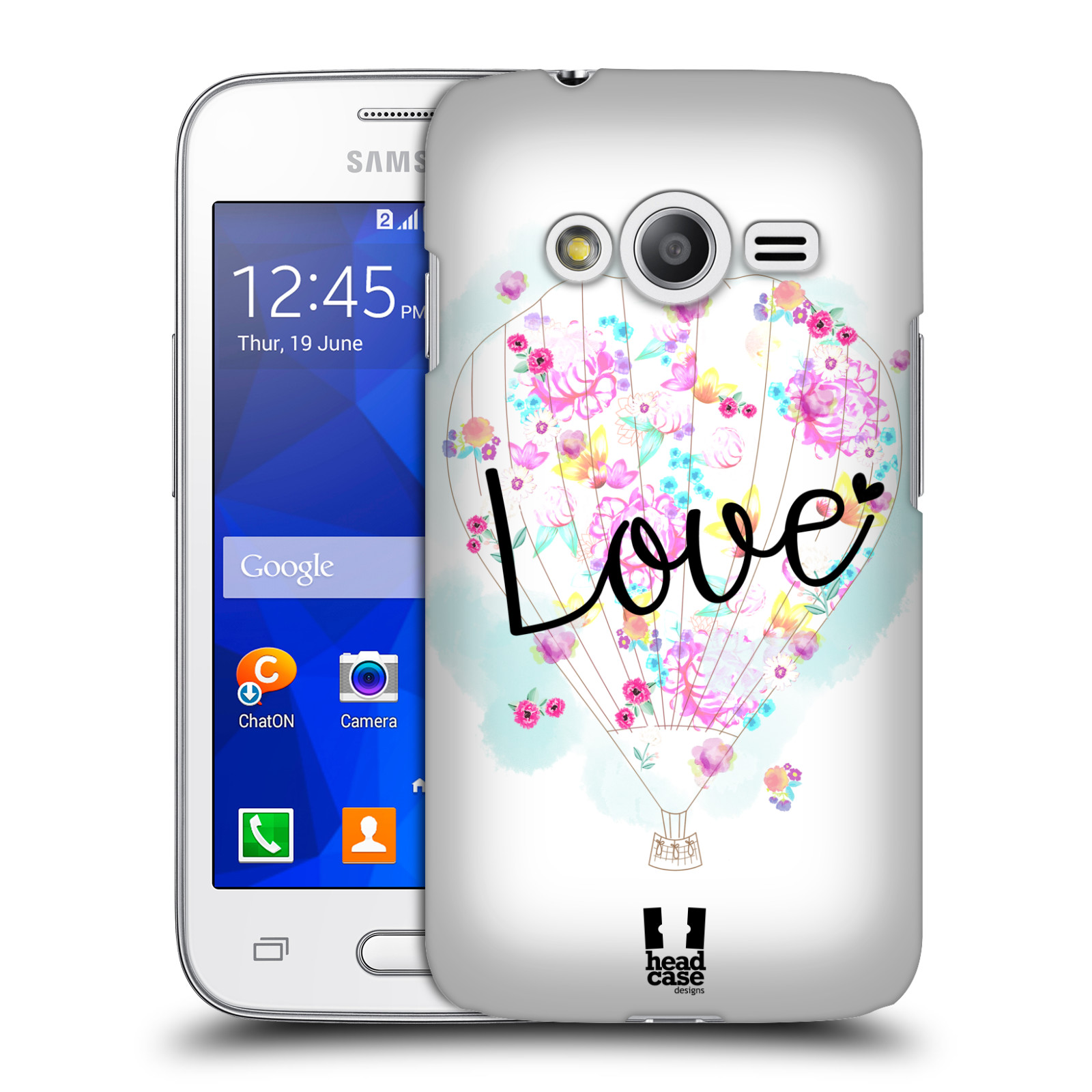 Plastové pouzdro na mobil Samsung Galaxy Trend 2 Lite HEAD CASE Balón Love (Plastový kryt či obal na mobilní telefon Samsung Galaxy Trend 2 Lite SM-G318)
