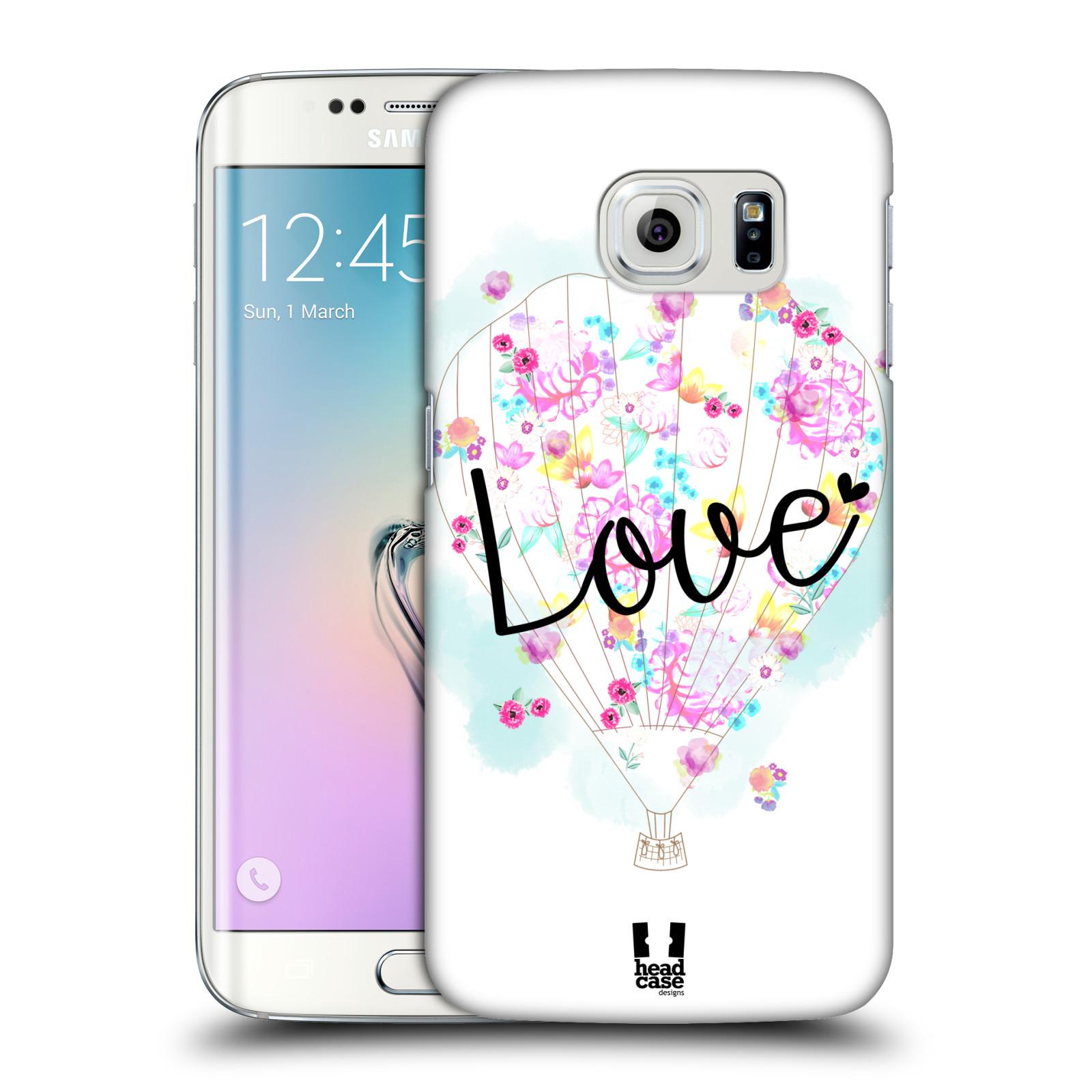 Plastové pouzdro na mobil Samsung Galaxy S6 Edge HEAD CASE Balón Love (Plastový kryt či obal na mobilní telefon Samsung Galaxy S6 Edge SM-G925F)