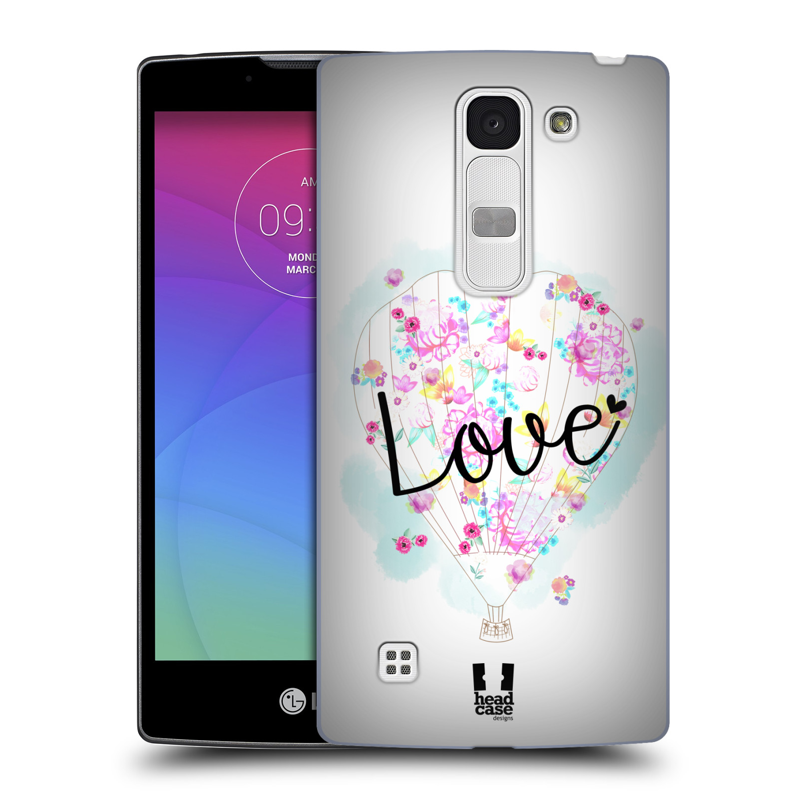 Plastové pouzdro na mobil LG Spirit LTE HEAD CASE Balón Love (Plastový kryt či obal na mobilní telefon LG Spirit H420 a LG Spirit LTE H440N)