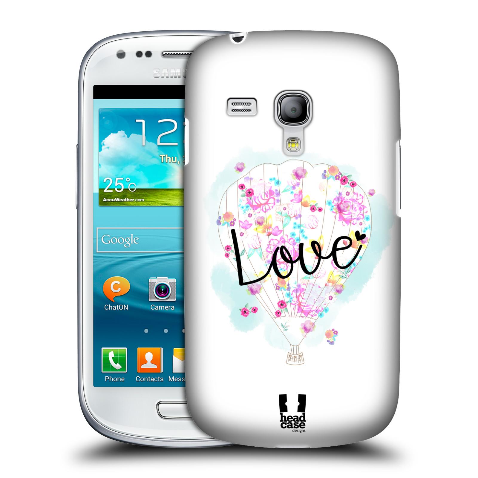 Plastové pouzdro na mobil Samsung Galaxy S III Mini HEAD CASE Balón Love (Plastový kryt či obal na mobilní telefon Samsung Galaxy S III Mini GT-i8190)