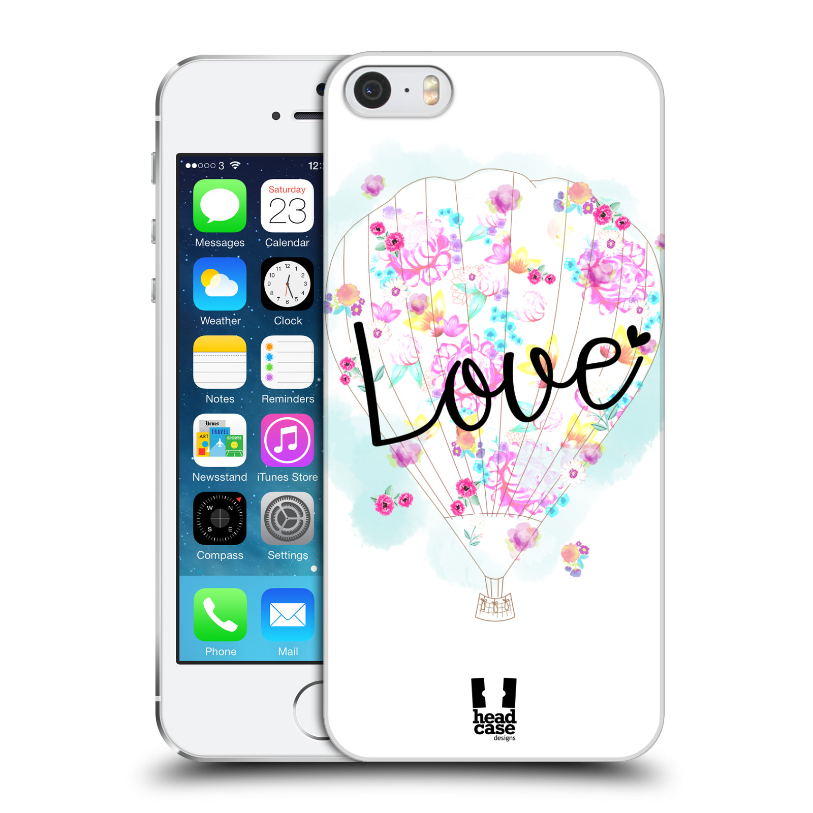 Plastové pouzdro na mobil Apple iPhone SE, 5 a 5S HEAD CASE Balón Love