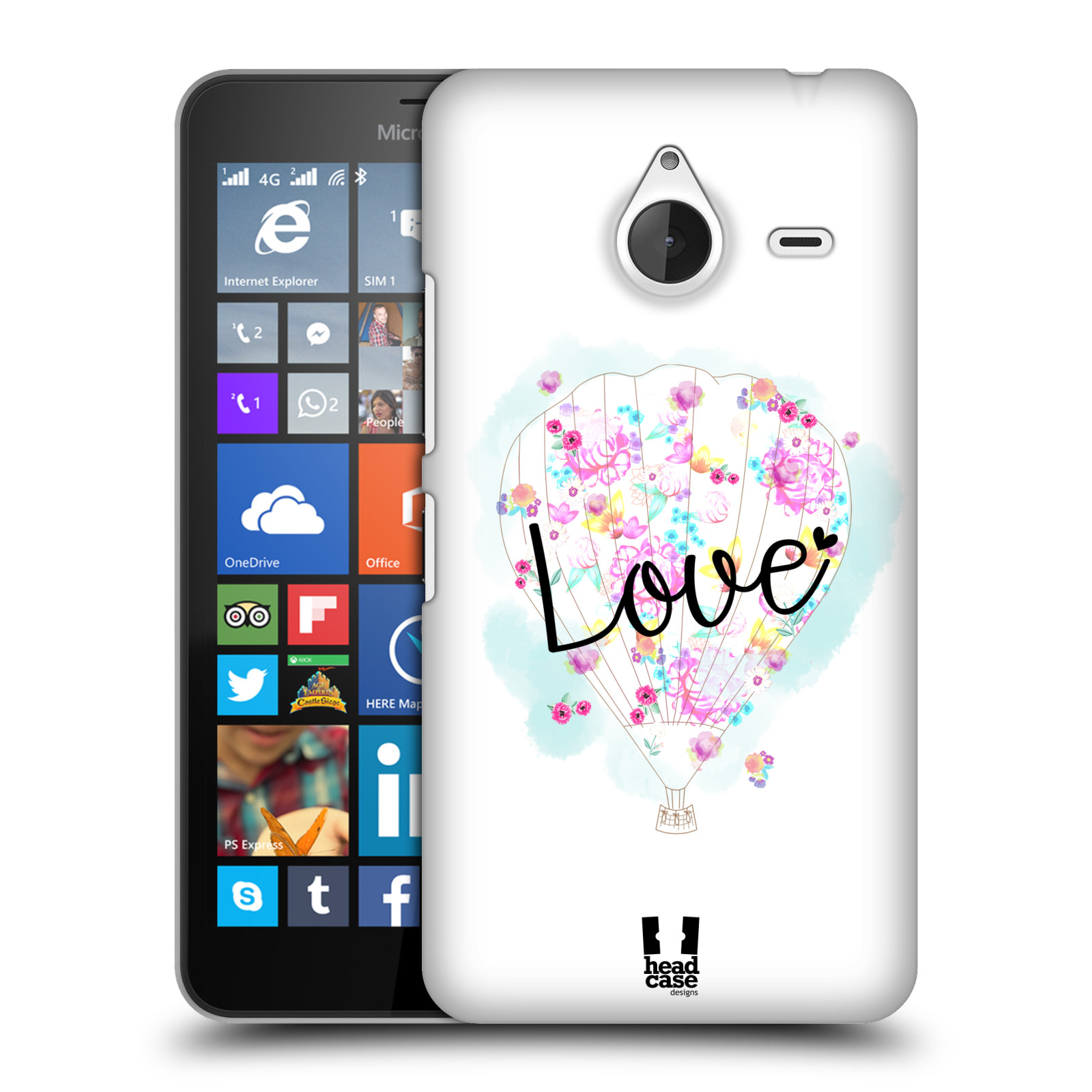 Plastové pouzdro na mobil Microsoft Lumia 640 XL HEAD CASE Balón Love (Plastový kryt či obal na mobilní telefon Microsoft Lumia 640 XL)