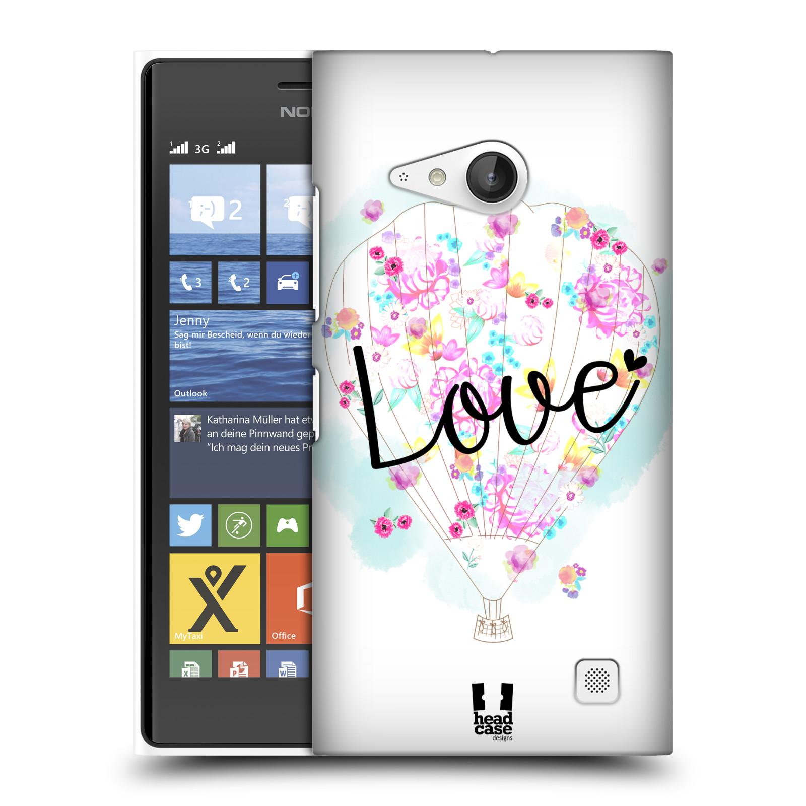 Plastové pouzdro na mobil Nokia Lumia 730 Dual SIM HEAD CASE Balón Love (Plastový kryt či obal na mobilní telefon Nokia Lumia 730 Dual SIM)