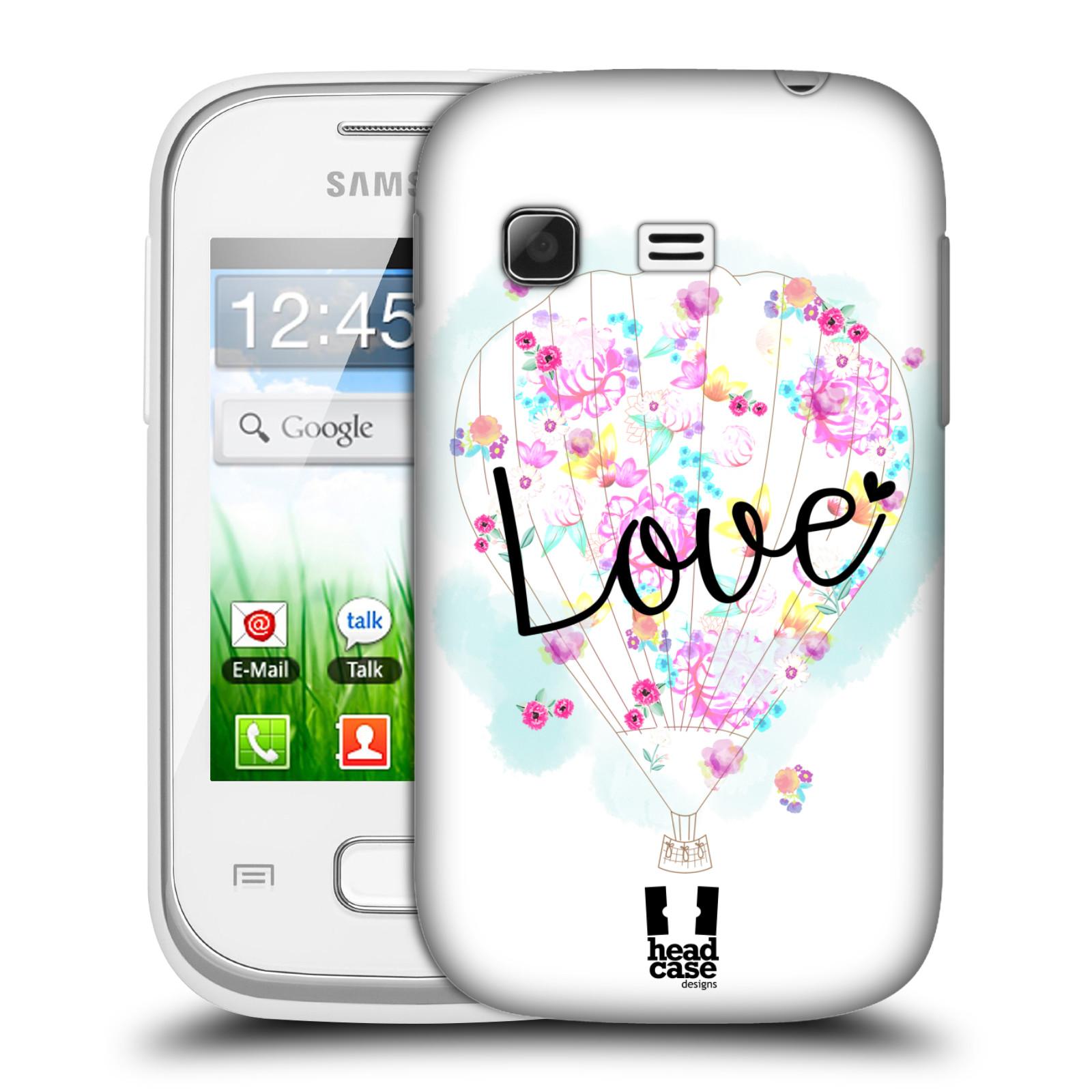 Plastové pouzdro na mobil Samsung Galaxy Pocket HEAD CASE Balón Love (Plastový kryt či obal na mobilní telefon Samsung Galaxy Pocket GT-S5300)