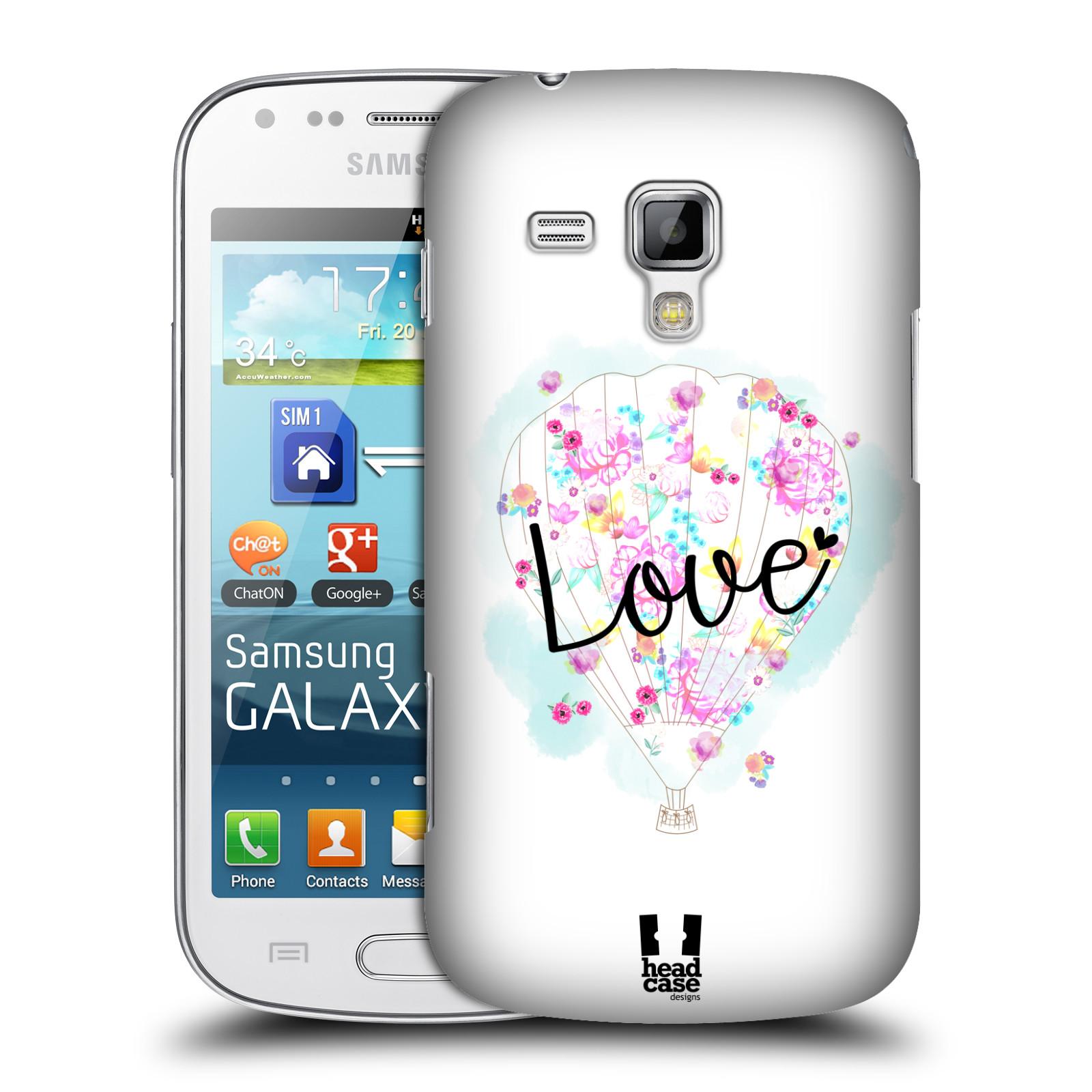 Plastové pouzdro na mobil Samsung Galaxy Trend Plus HEAD CASE Balón Love (Plastový kryt či obal na mobilní telefon Samsung Galaxy Trend Plus GT-S7580)