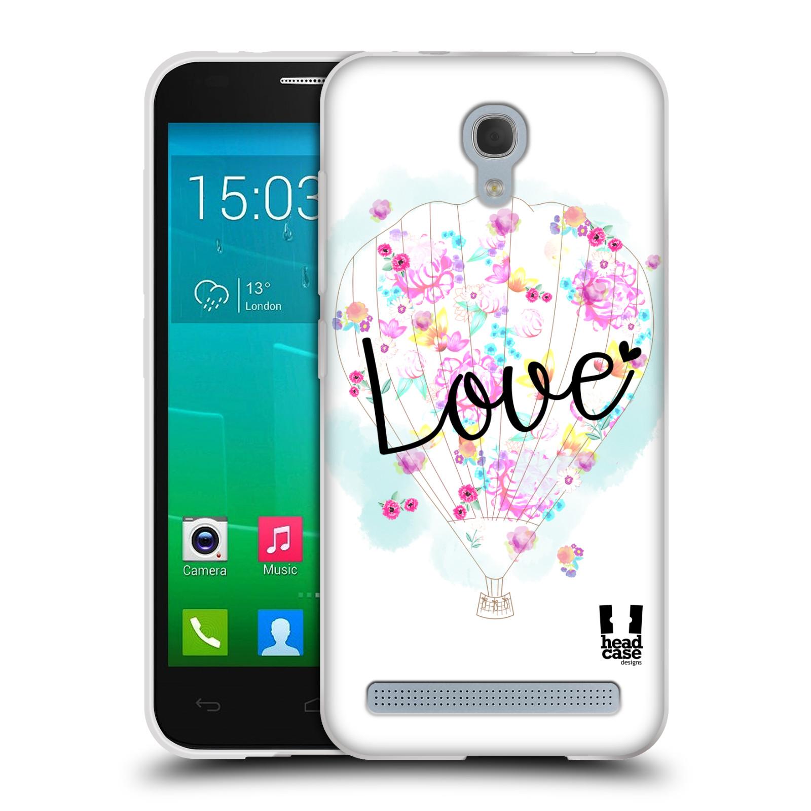 Silikonové pouzdro na mobil Alcatel One Touch Idol 2 Mini S 6036Y HEAD CASE Balón Love (Silikonový kryt či obal na mobilní telefon Alcatel Idol 2 Mini S OT-6036Y)
