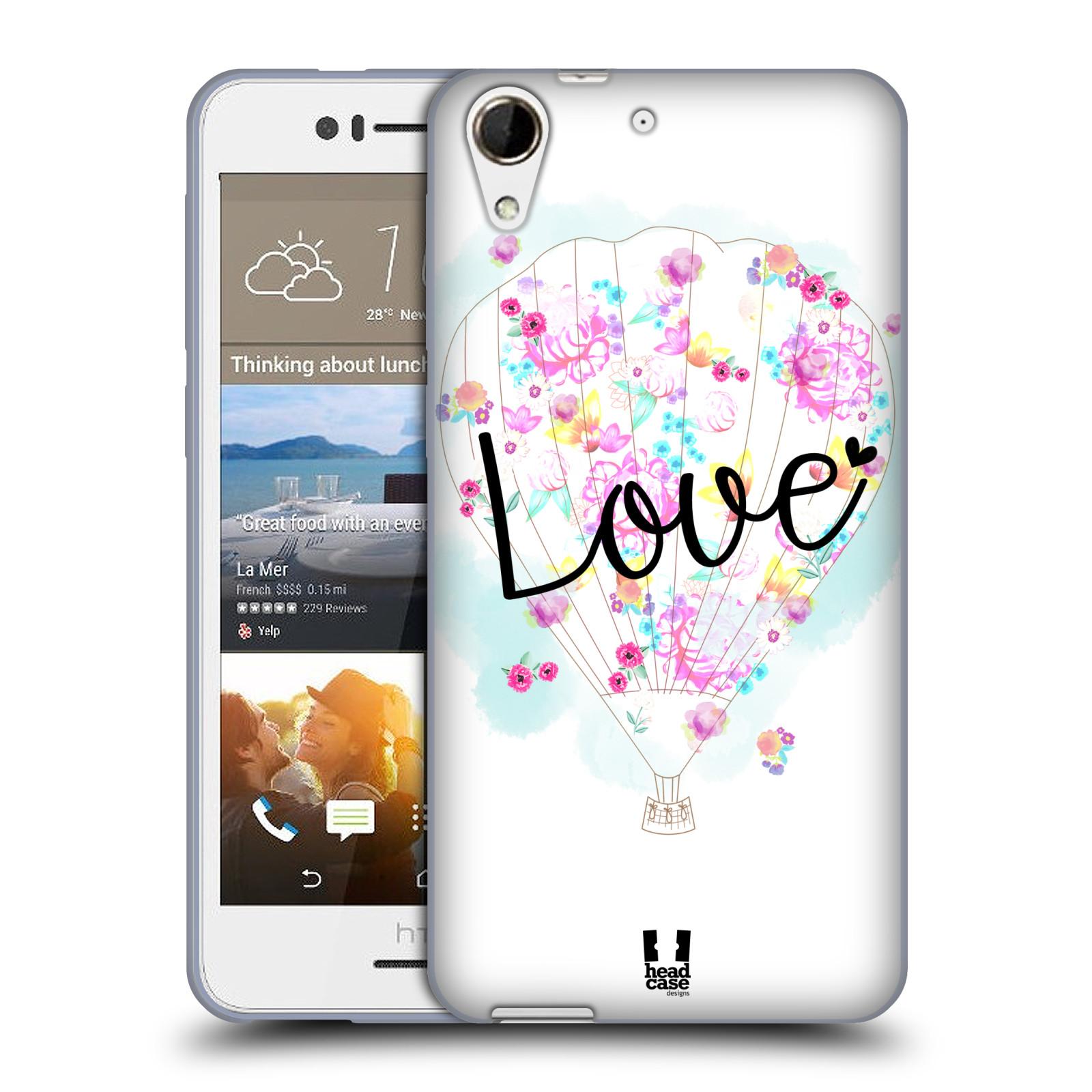 Silikonové pouzdro na mobil HTC Desire 728G Dual SIM HEAD CASE Balón Love (Silikonový kryt či obal na mobilní telefon HTC Desire 728 G Dual SIM)