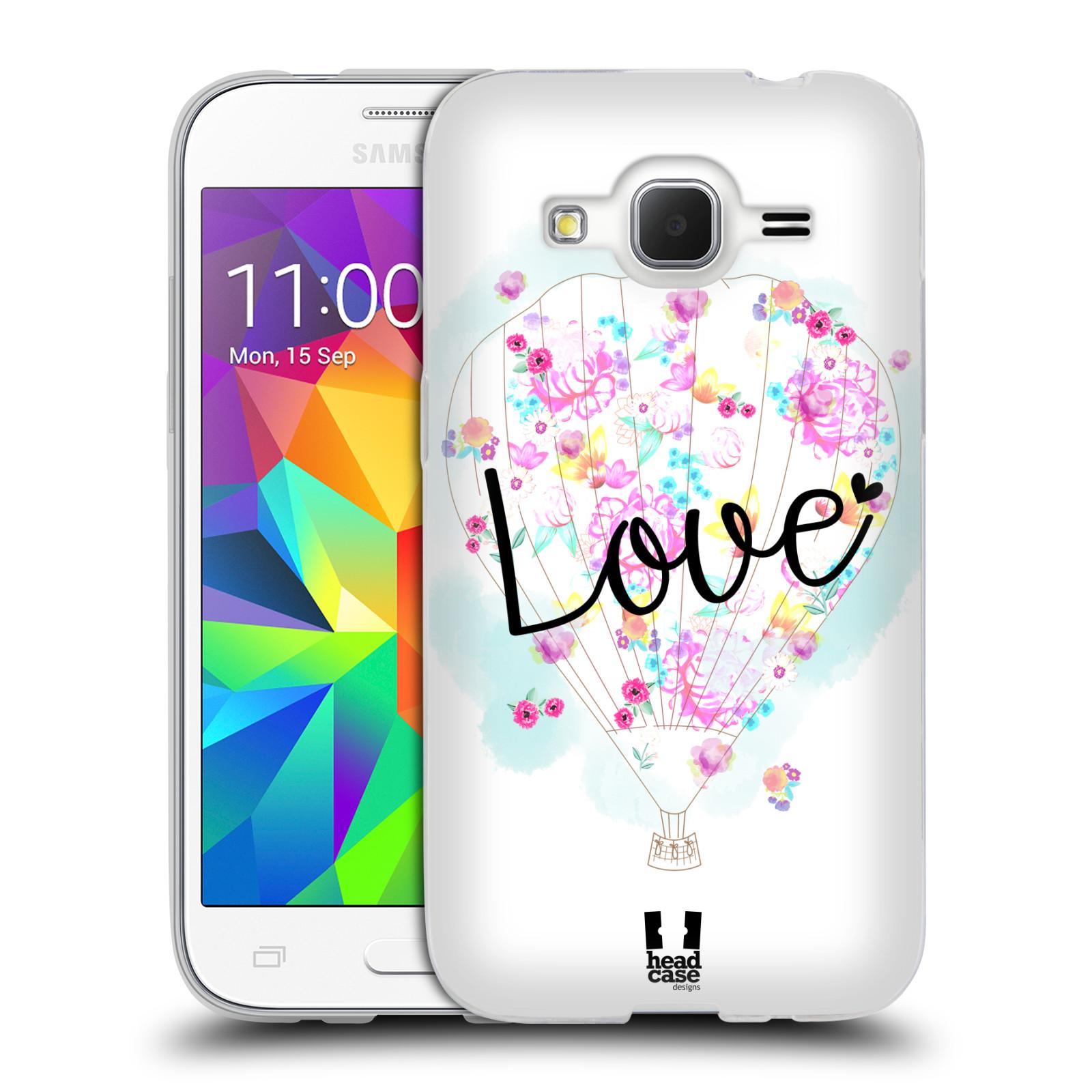 Silikonové pouzdro na mobil Samsung Galaxy Core Prime LTE HEAD CASE Balón Love (Silikonový kryt či obal na mobilní telefon Samsung Galaxy Core Prime LTE SM-G360)