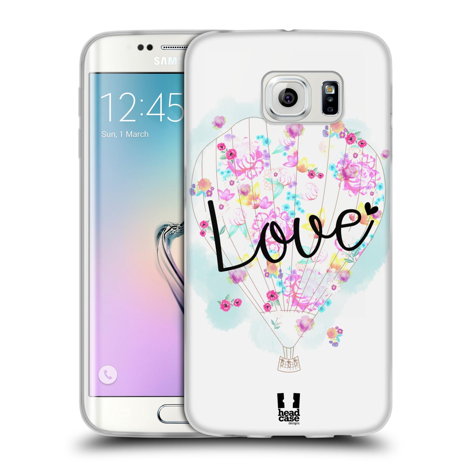 Silikonové pouzdro na mobil Samsung Galaxy S6 Edge HEAD CASE Balón Love (Silikonový kryt či obal na mobilní telefon Samsung Galaxy S6 Edge SM-G925F)