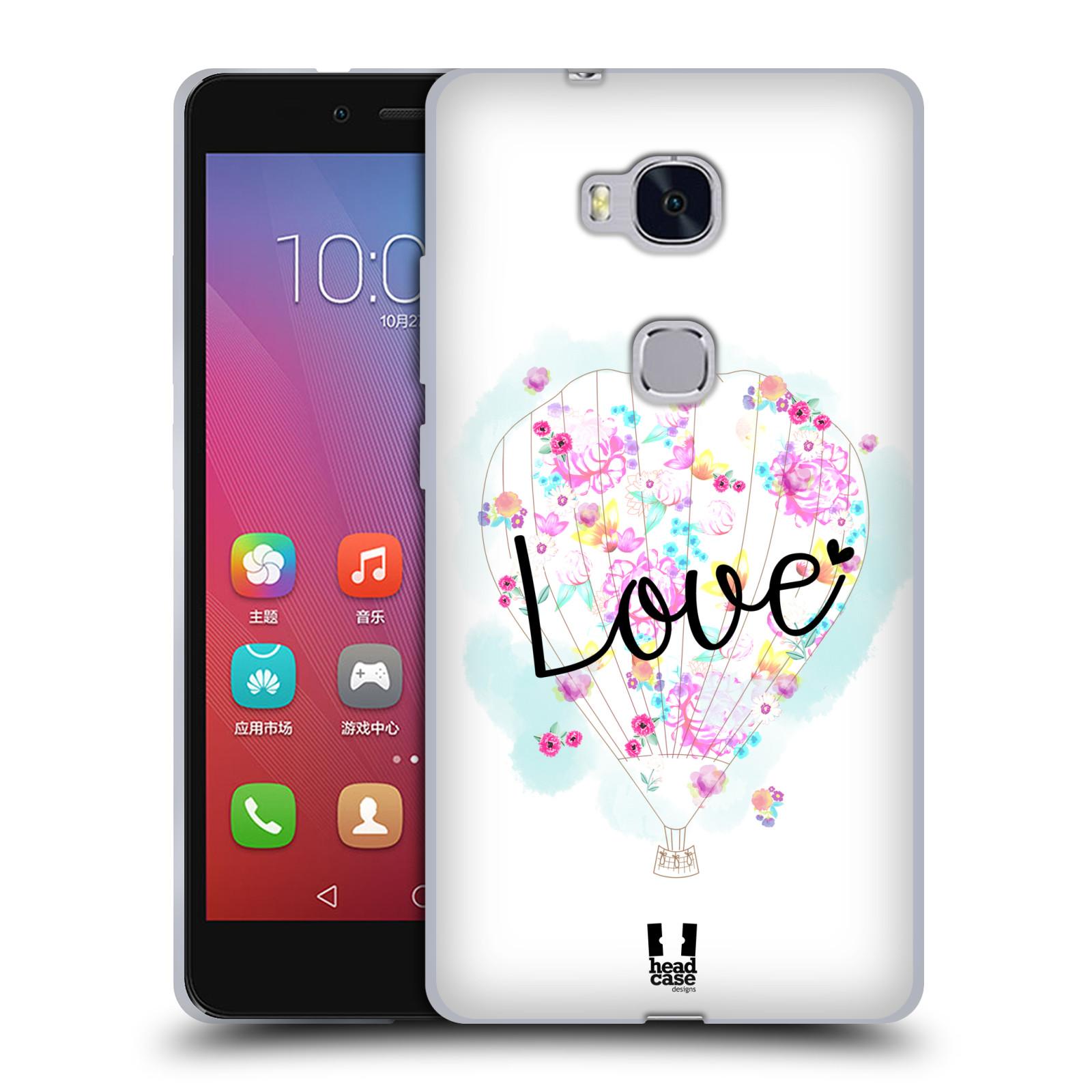 Silikonové pouzdro na mobil Honor 5X HEAD CASE Balón Love
