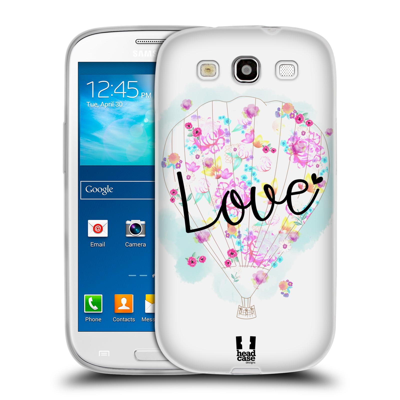 Silikonové pouzdro na mobil Samsung Galaxy S3 Neo HEAD CASE Balón Love (Silikonový kryt či obal na mobilní telefon Samsung Galaxy S3 Neo GT-i9301i)