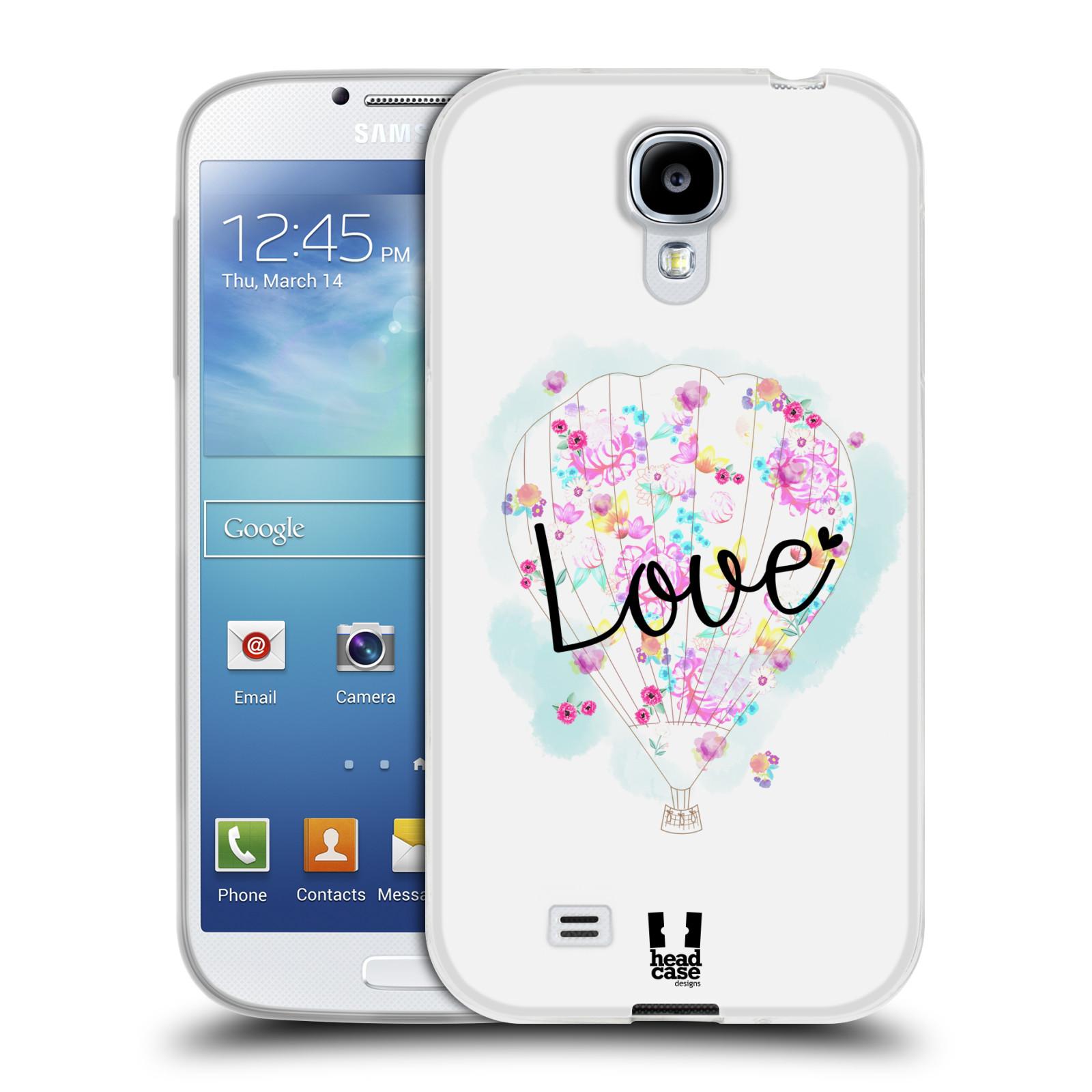 Silikonové pouzdro na mobil Samsung Galaxy S4 HEAD CASE Balón Love (Silikonový kryt či obal na mobilní telefon Samsung Galaxy S4 GT-i9505 / i9500)