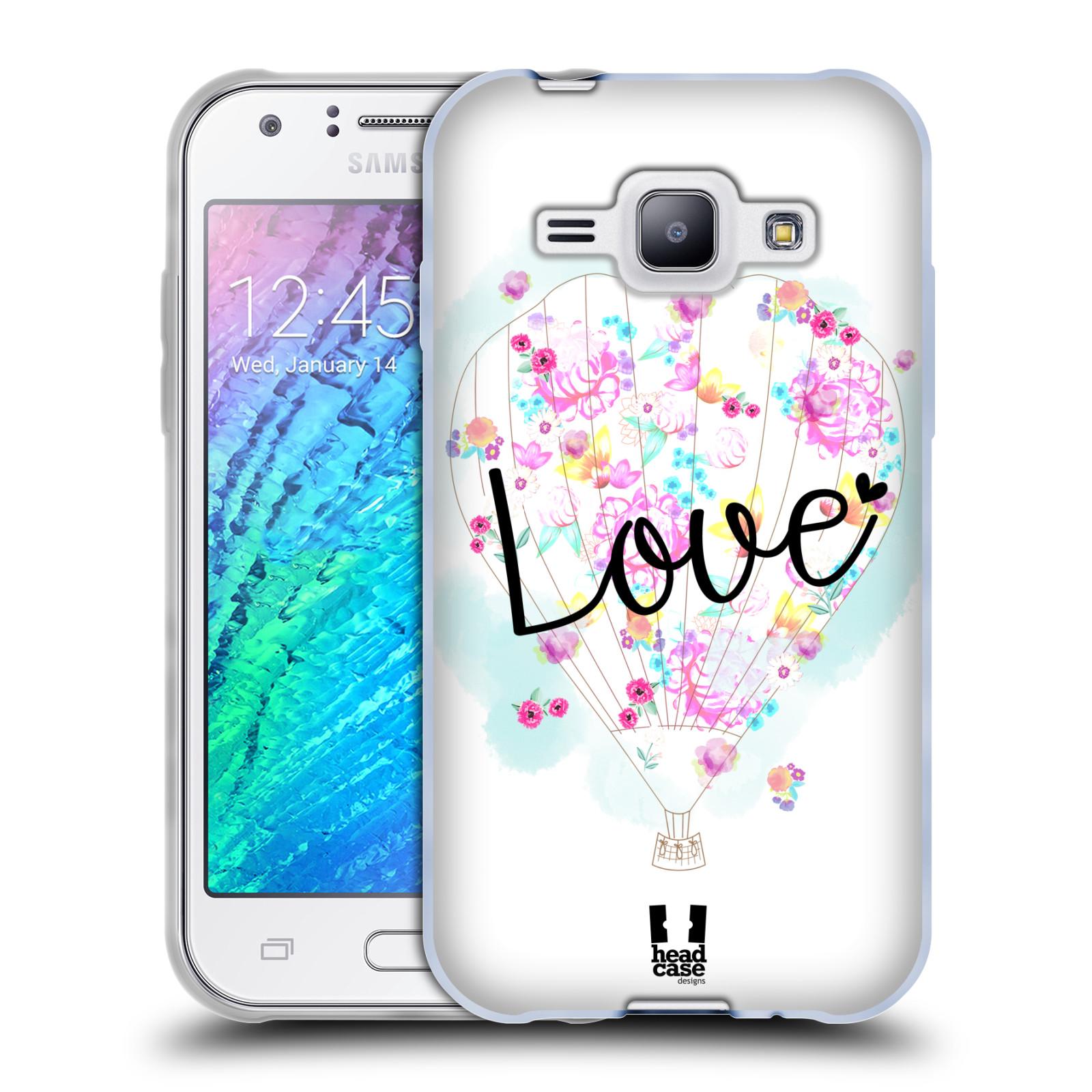 Silikonové pouzdro na mobil Samsung Galaxy J1 HEAD CASE Balón Love (Silikonový kryt či obal na mobilní telefon Samsung Galaxy J1 a J1 Duos)