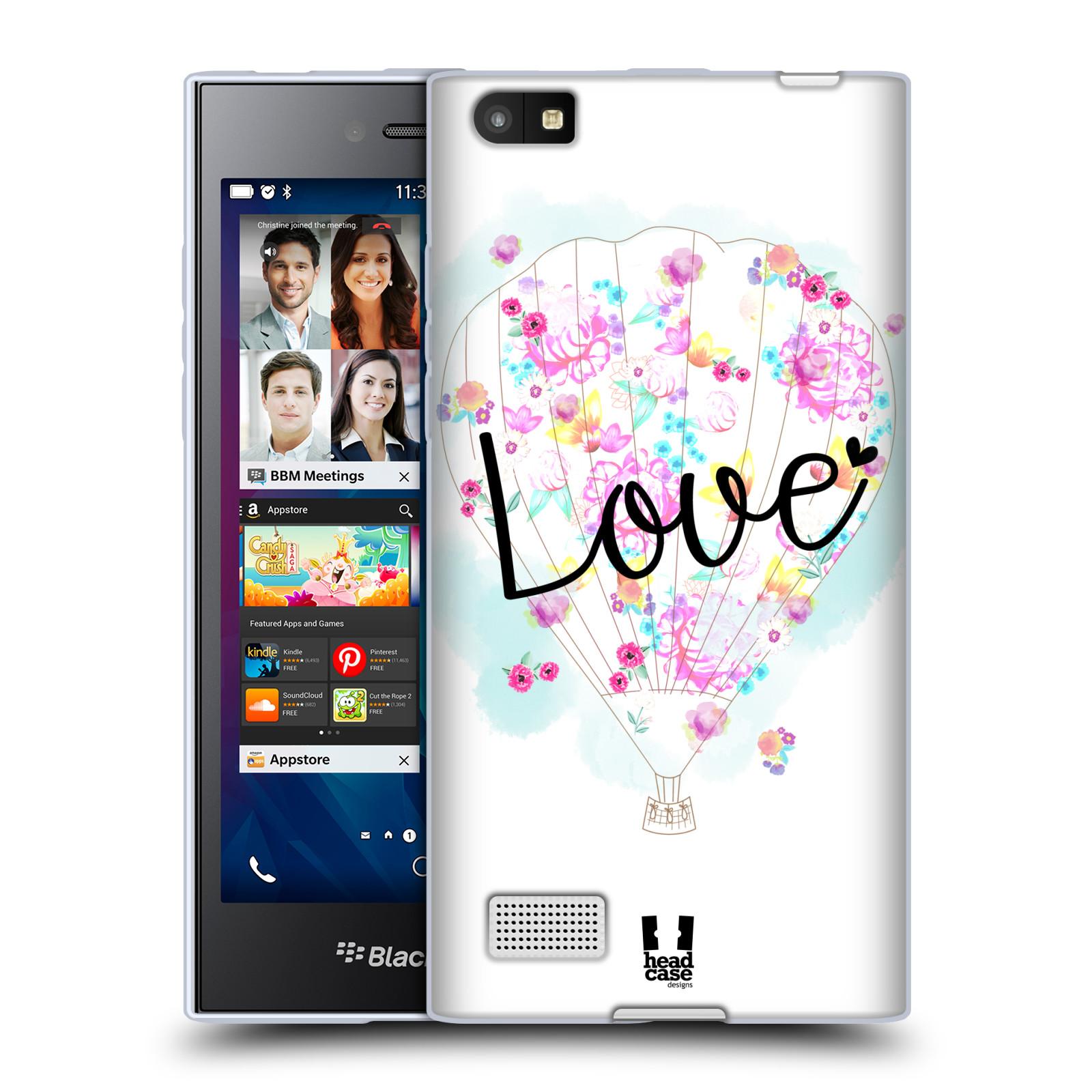Silikonové pouzdro na mobil Blackberry Leap HEAD CASE Balón Love (Silikonový kryt či obal na mobilní telefon Blackberry Leap)