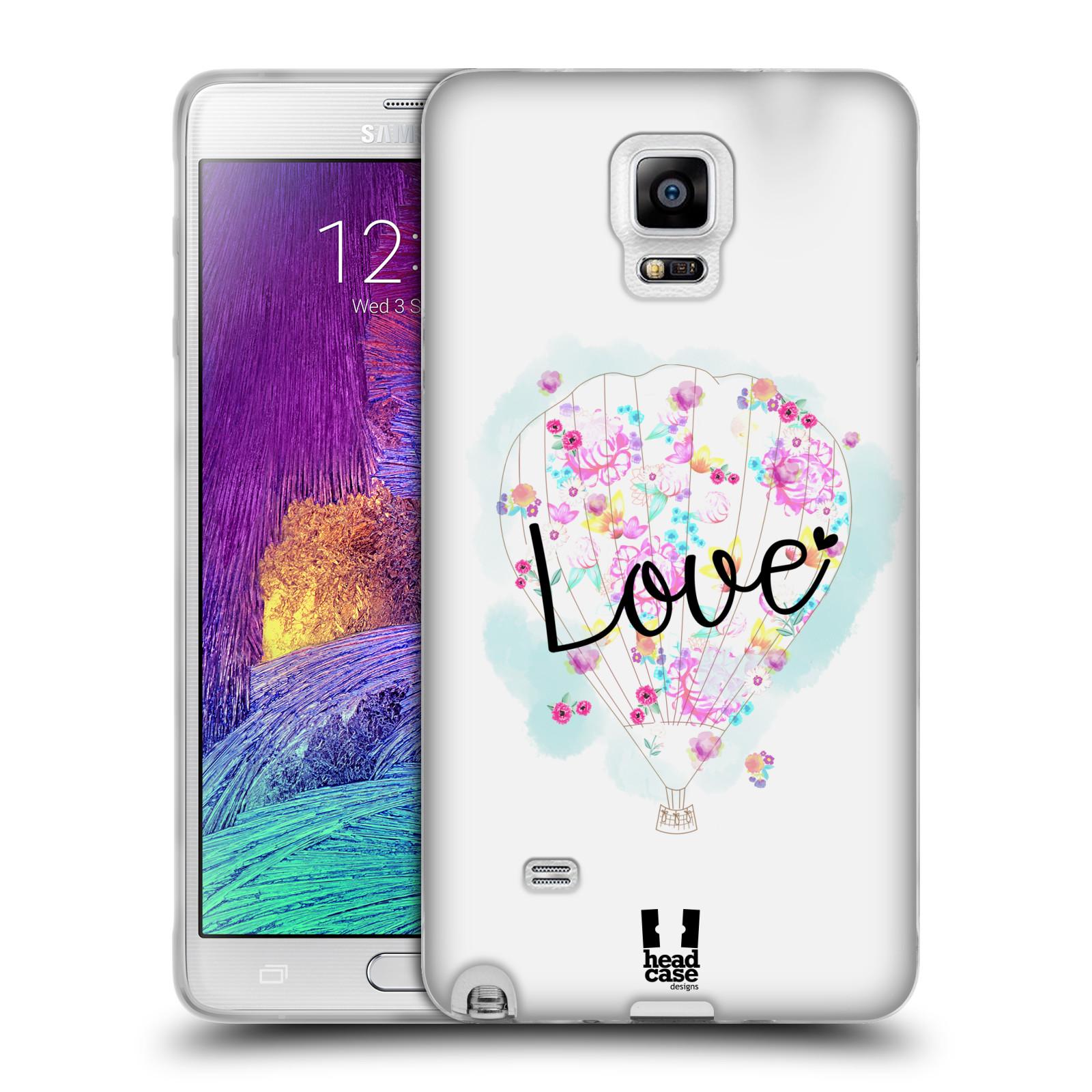 Silikonové pouzdro na mobil Samsung Galaxy Note 4 HEAD CASE Balón Love (Silikonový kryt či obal na mobilní telefon Samsung Galaxy Note 4 SM-N910F)