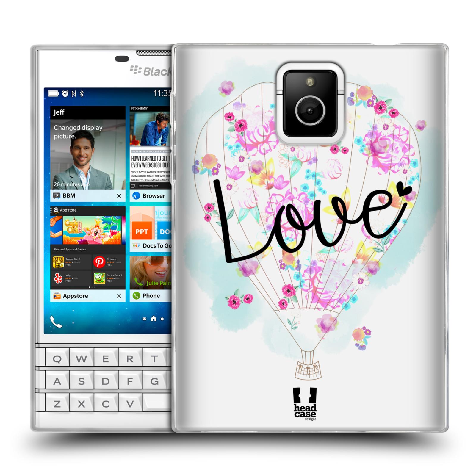 Silikonové pouzdro na mobil Blackberry PASSPORT HEAD CASE Balón Love (Silikonový kryt či obal na mobilní telefon Blackberry PASSPORT)