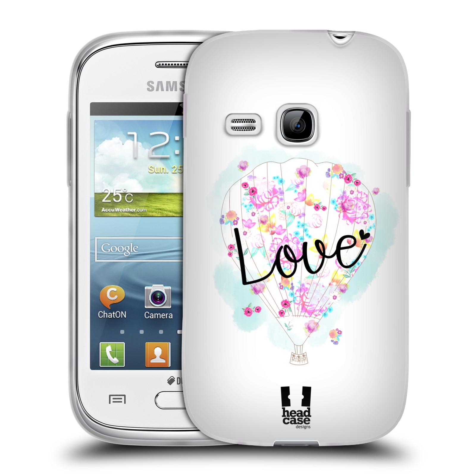 Silikonové pouzdro na mobil Samsung Galaxy Young HEAD CASE Balón Love (Silikonový kryt či obal na mobilní telefon Samsung Galaxy Young GT-S6310)