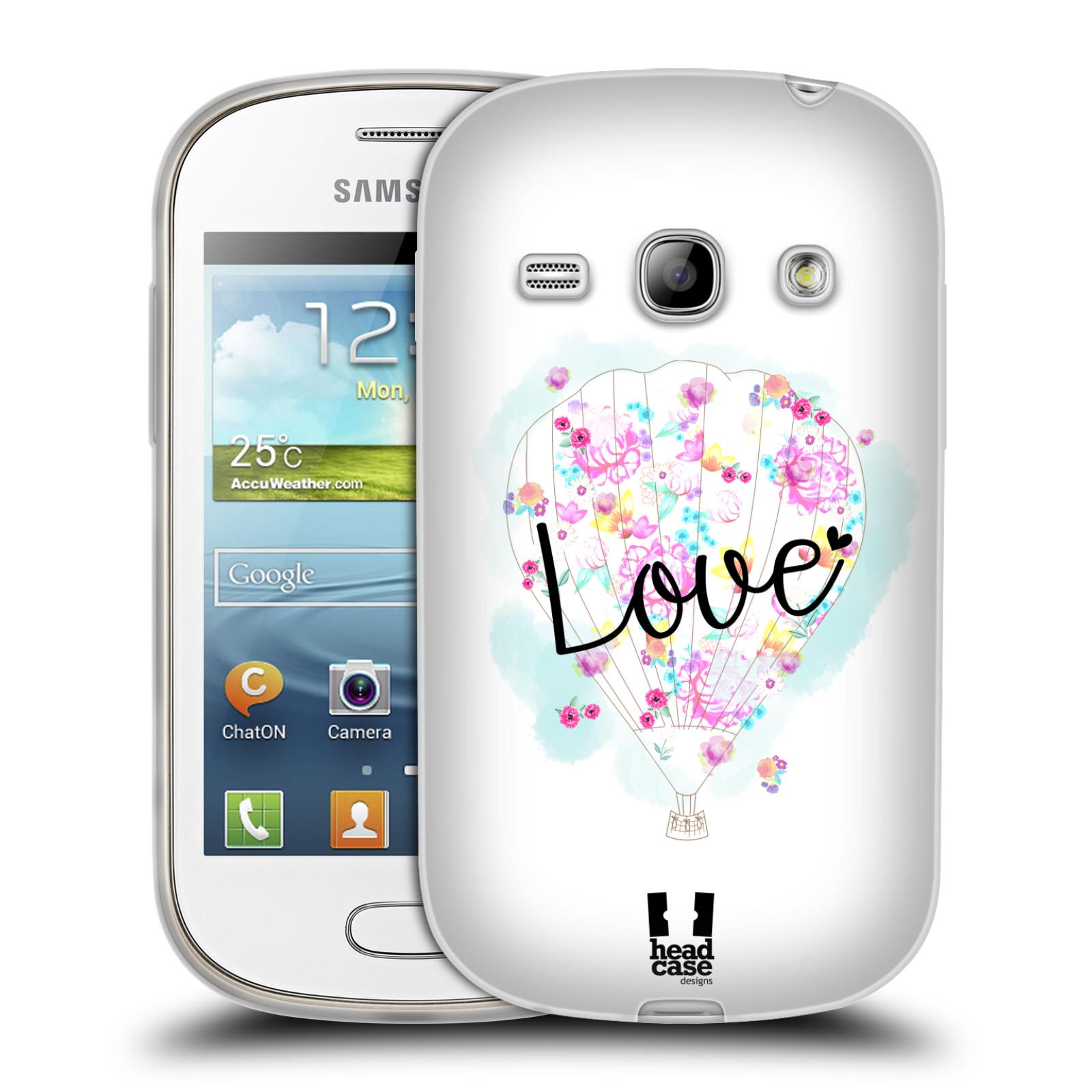 Silikonové pouzdro na mobil Samsung Galaxy Fame HEAD CASE Balón Love (Silikonový kryt či obal na mobilní telefon Samsung Galaxy Fame GT-S6810)