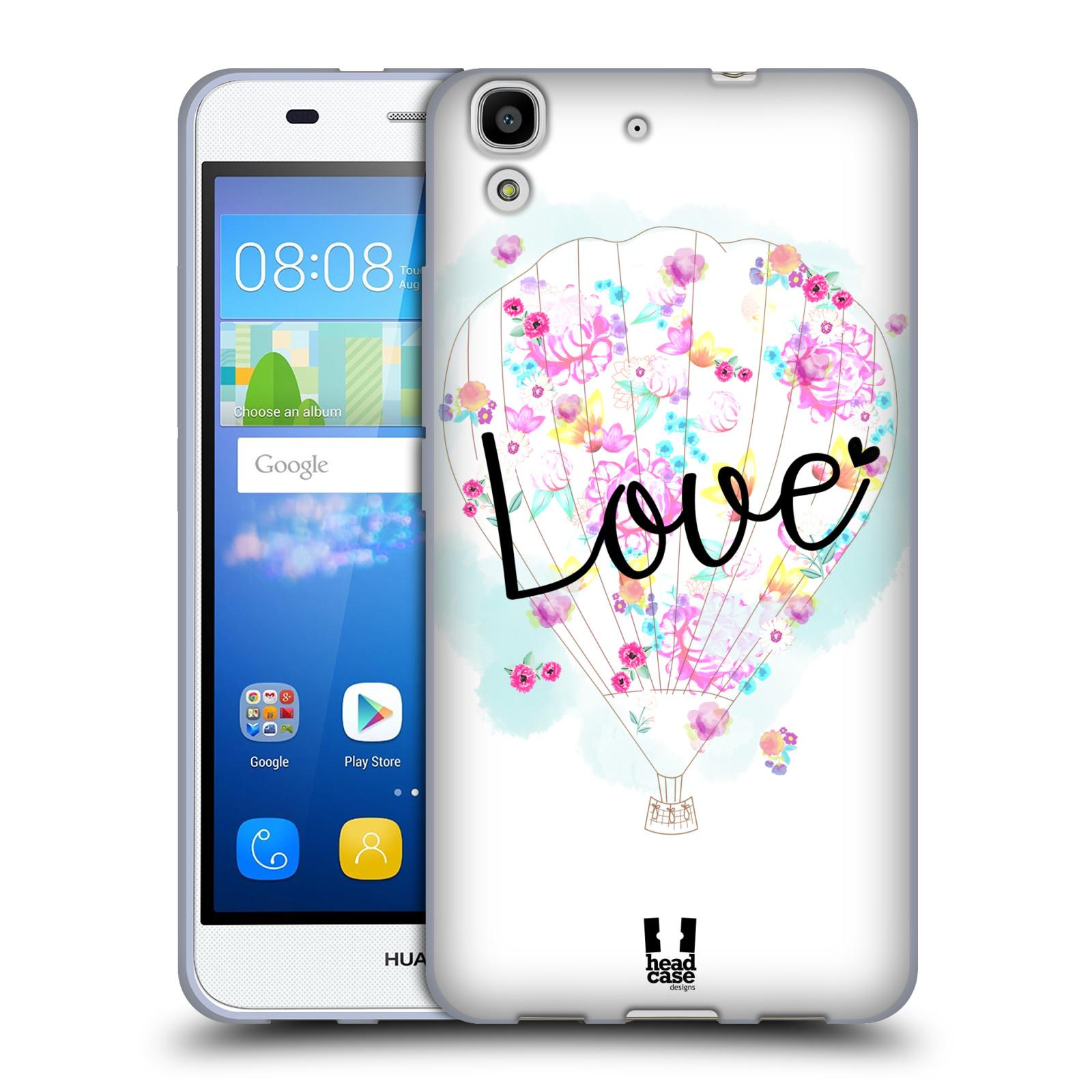 e17fc8080 Silikonové pouzdro na mobil Huawei Y6 HEAD CASE Balón Love ...