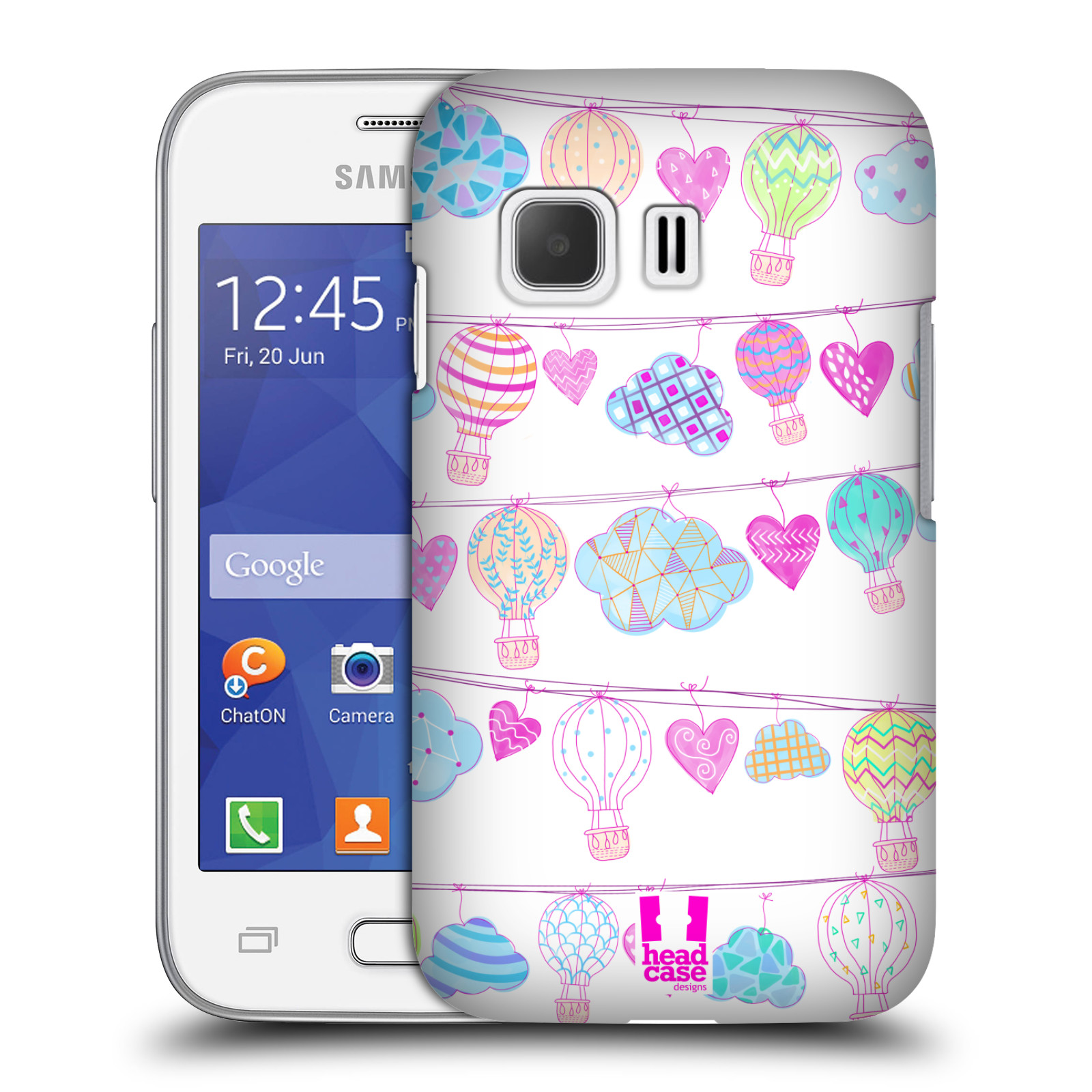 Plastové pouzdro na mobil Samsung Galaxy Young 2 HEAD CASE Balóny a srdíčka (Plastový kryt či obal na mobilní telefon Samsung Galaxy Young 2 SM-G130)