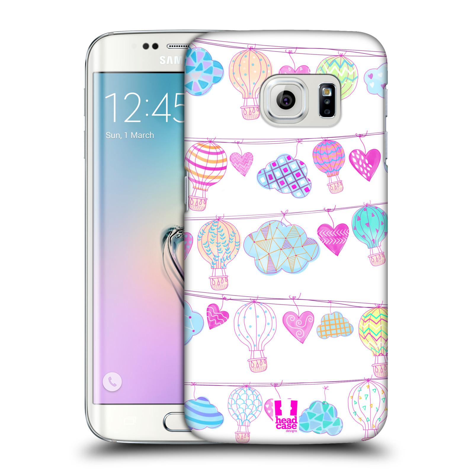 Plastové pouzdro na mobil Samsung Galaxy S6 Edge HEAD CASE Balóny a srdíčka (Plastový kryt či obal na mobilní telefon Samsung Galaxy S6 Edge SM-G925F)