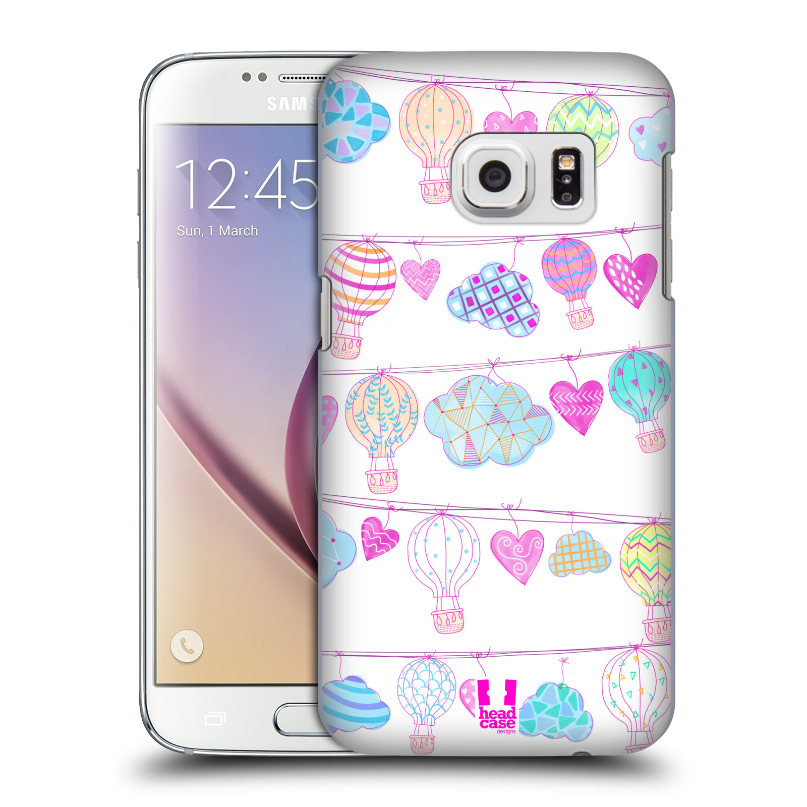 Plastové pouzdro na mobil Samsung Galaxy S7 HEAD CASE Balóny a srdíčka (Plastový kryt či obal na mobilní telefon Samsung Galaxy S7 SM-G930F)