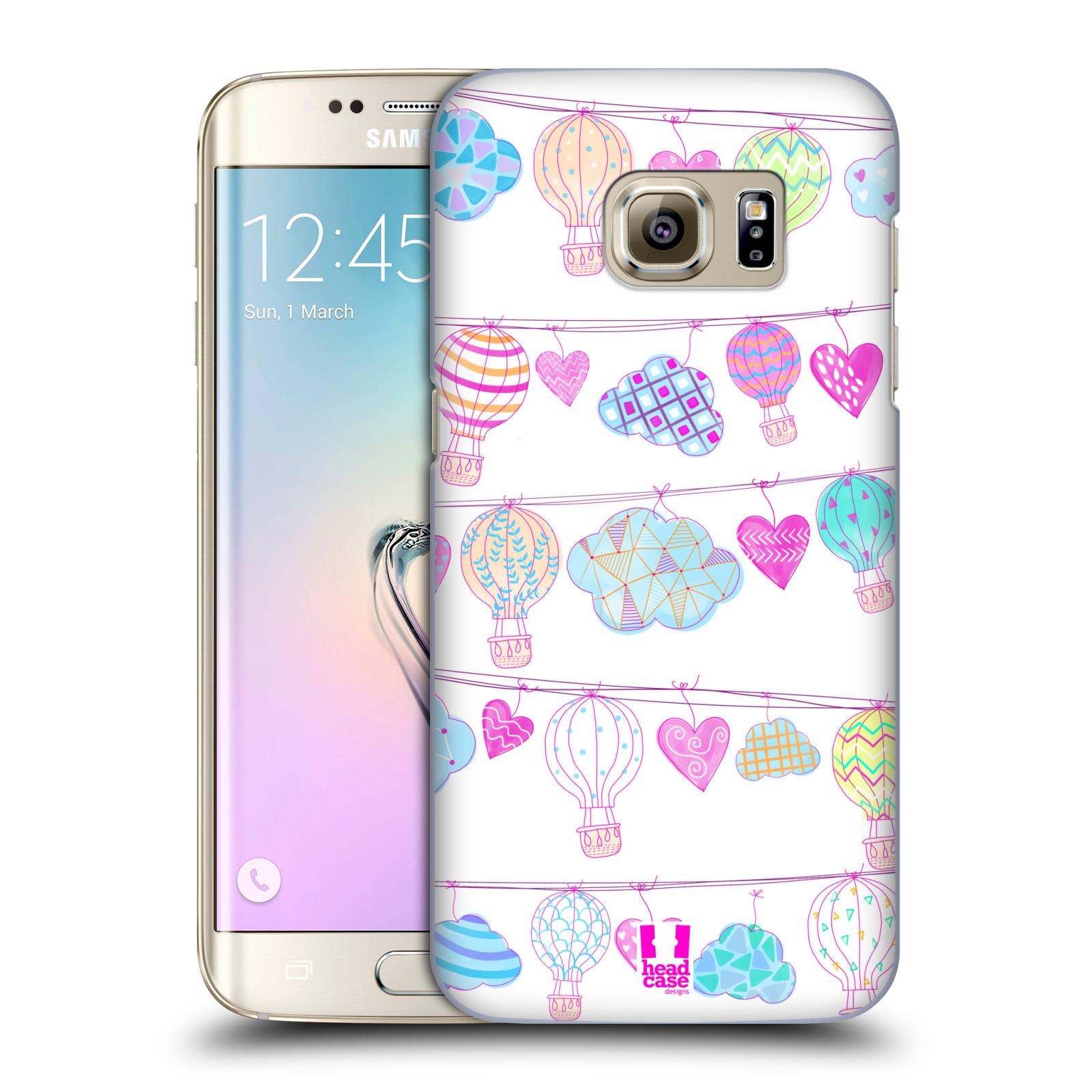 Plastové pouzdro na mobil Samsung Galaxy S7 Edge HEAD CASE Balóny a srdíčka (Plastový kryt či obal na mobilní telefon Samsung Galaxy S7 Edge SM-G935F)