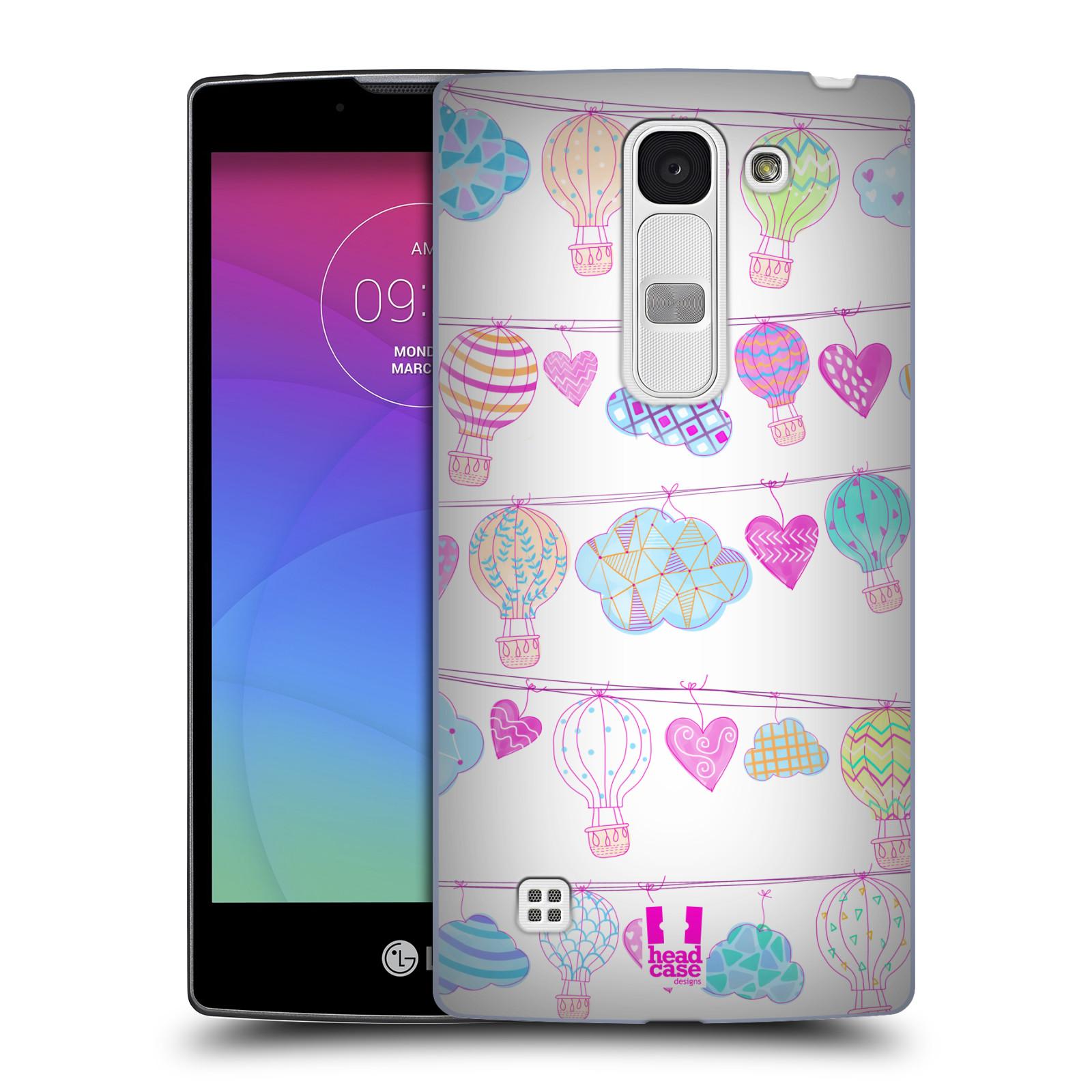 Plastové pouzdro na mobil LG Spirit LTE HEAD CASE Balóny a srdíčka (Plastový kryt či obal na mobilní telefon LG Spirit H420 a LG Spirit LTE H440N)
