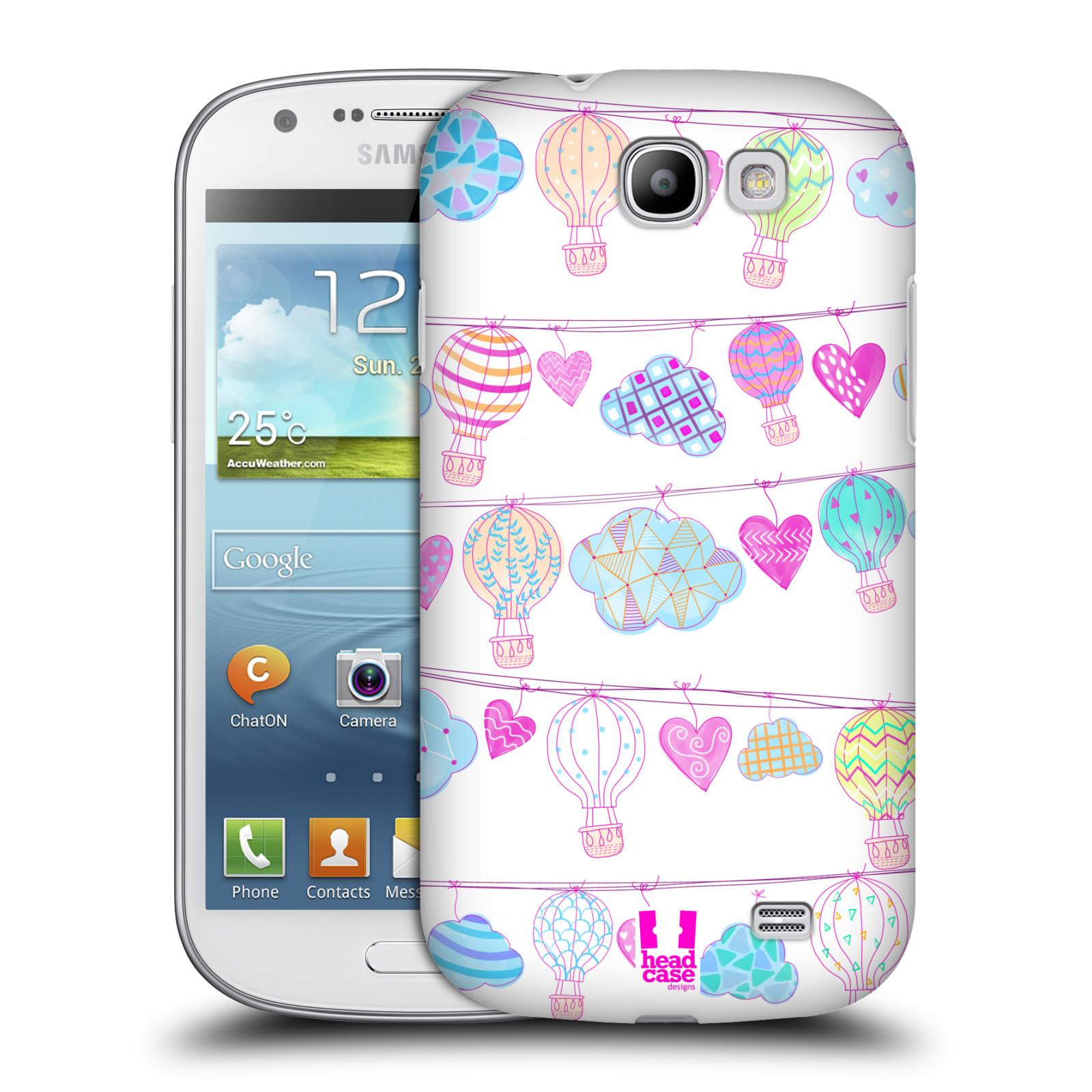 Plastové pouzdro na mobil Samsung Galaxy Express HEAD CASE Balóny a srdíčka (Plastový kryt či obal na mobilní telefon Samsung Galaxy Express GT-i8730)
